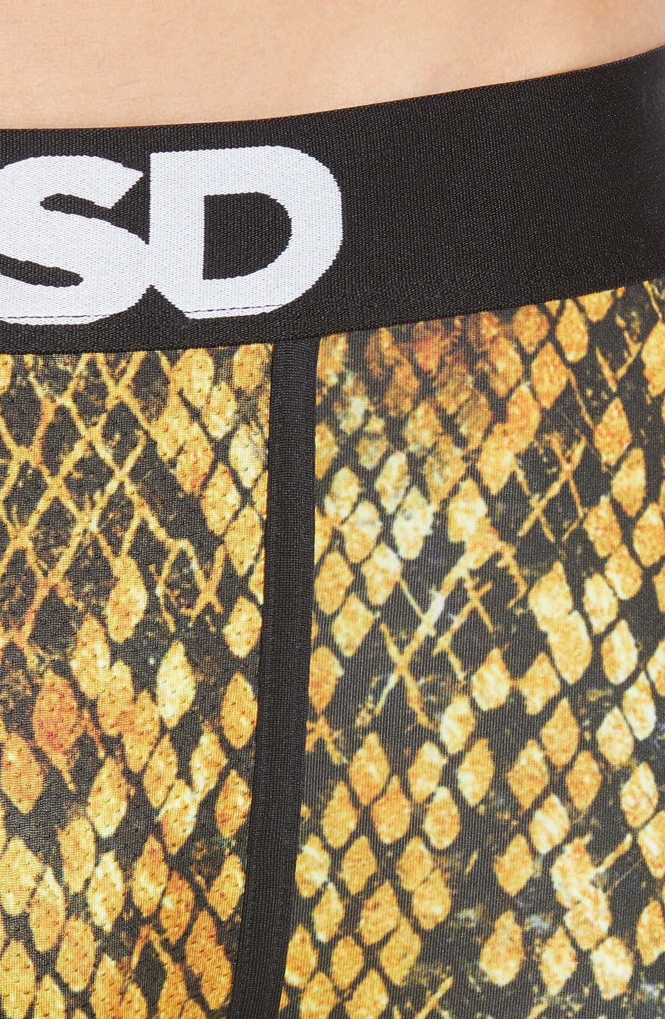Gold Snake Boxer Briefs,                             Alternate thumbnail 4, color,                             GOLD