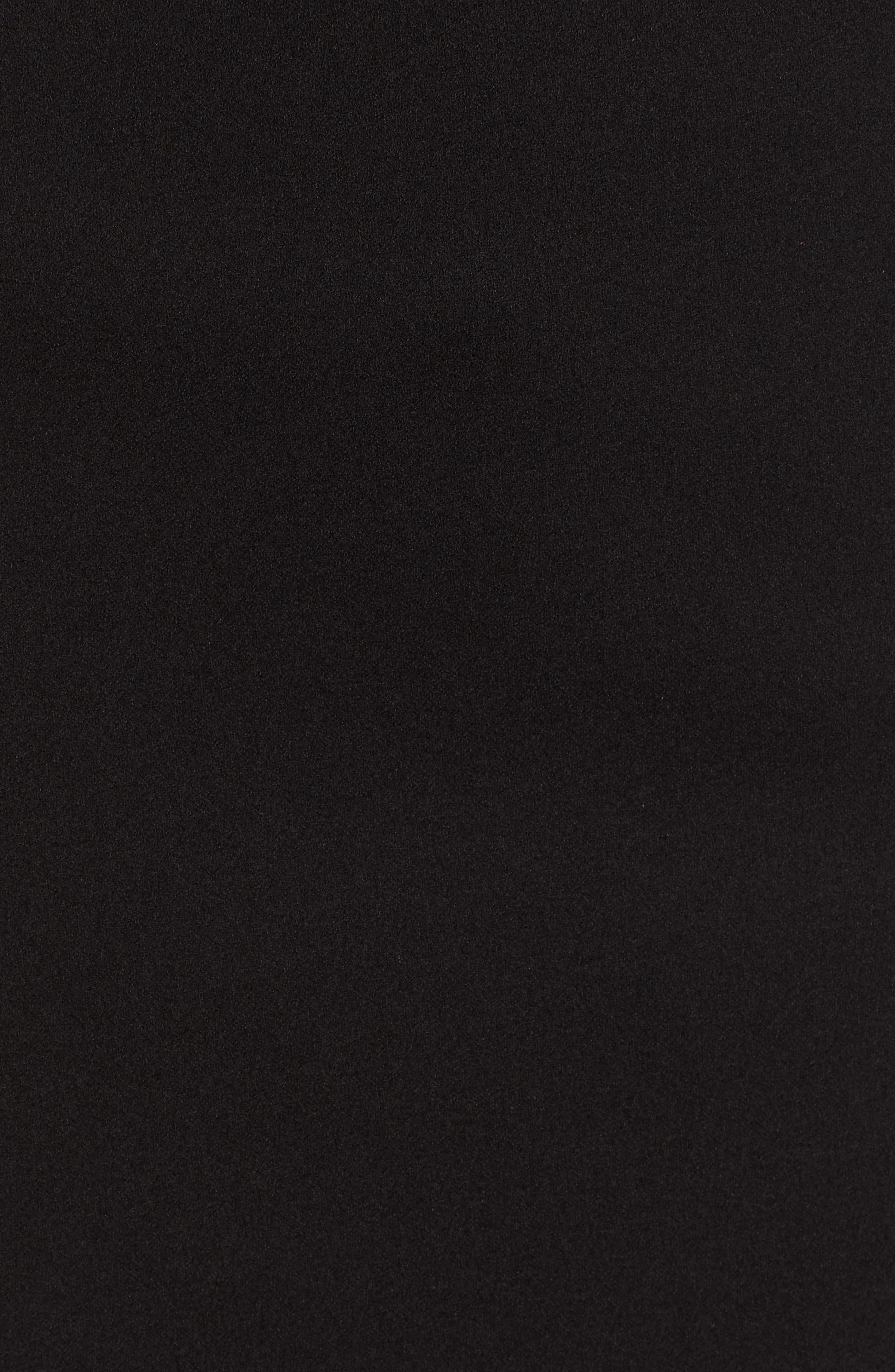 Scuba Dress,                             Alternate thumbnail 6, color,                             BLACK