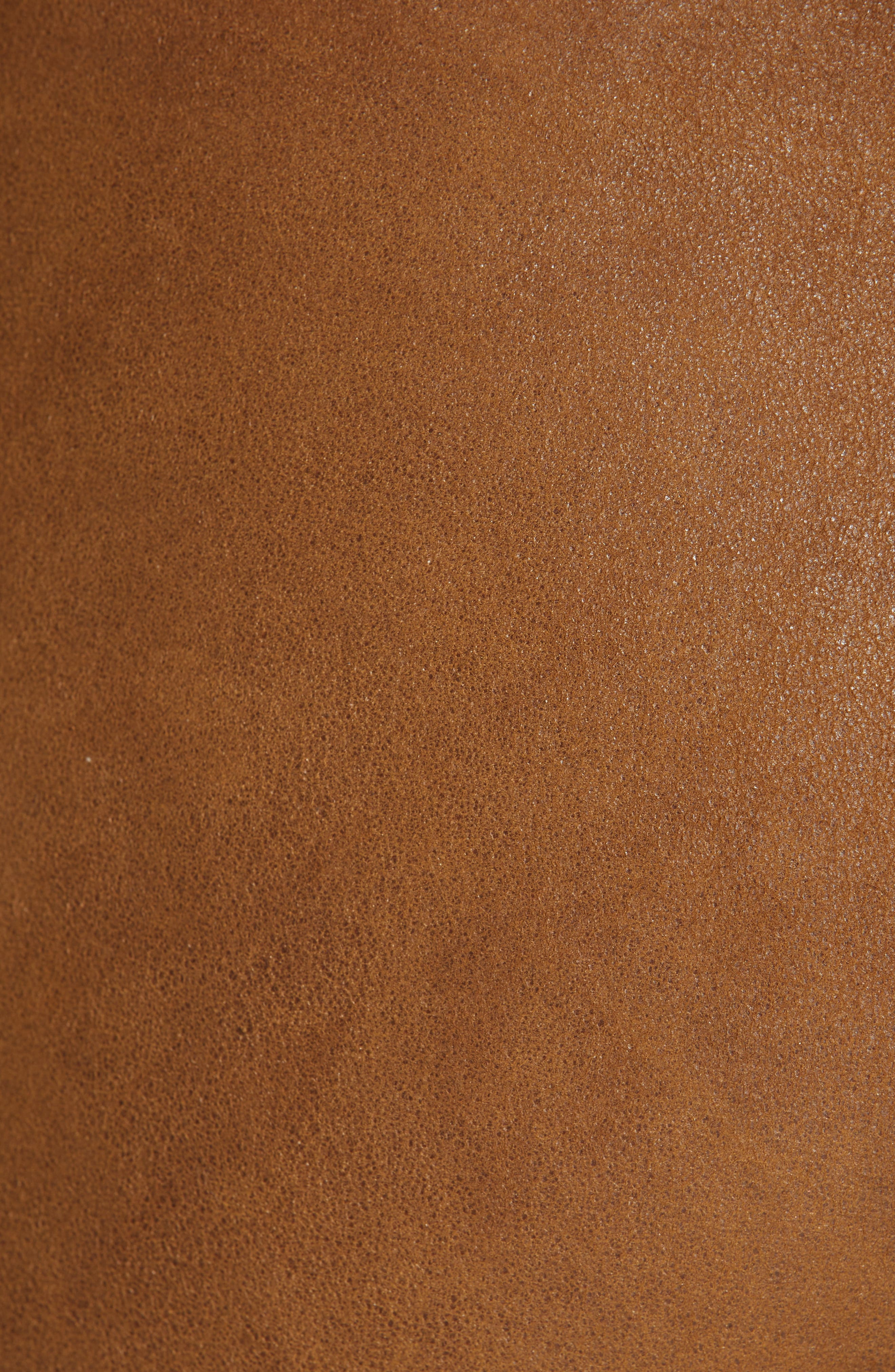 Esther Leather Leggings,                             Alternate thumbnail 5, color,                             CUMIN