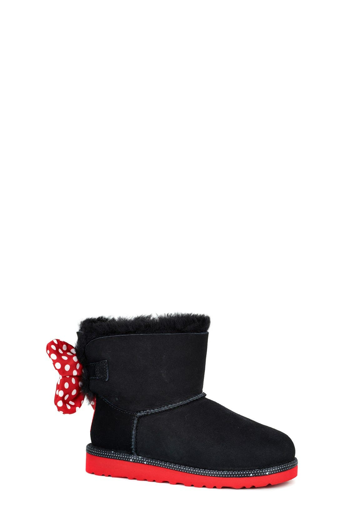 Disney<sup>®</sup> 'Sweetie Bow' Boot, Main, color, 001
