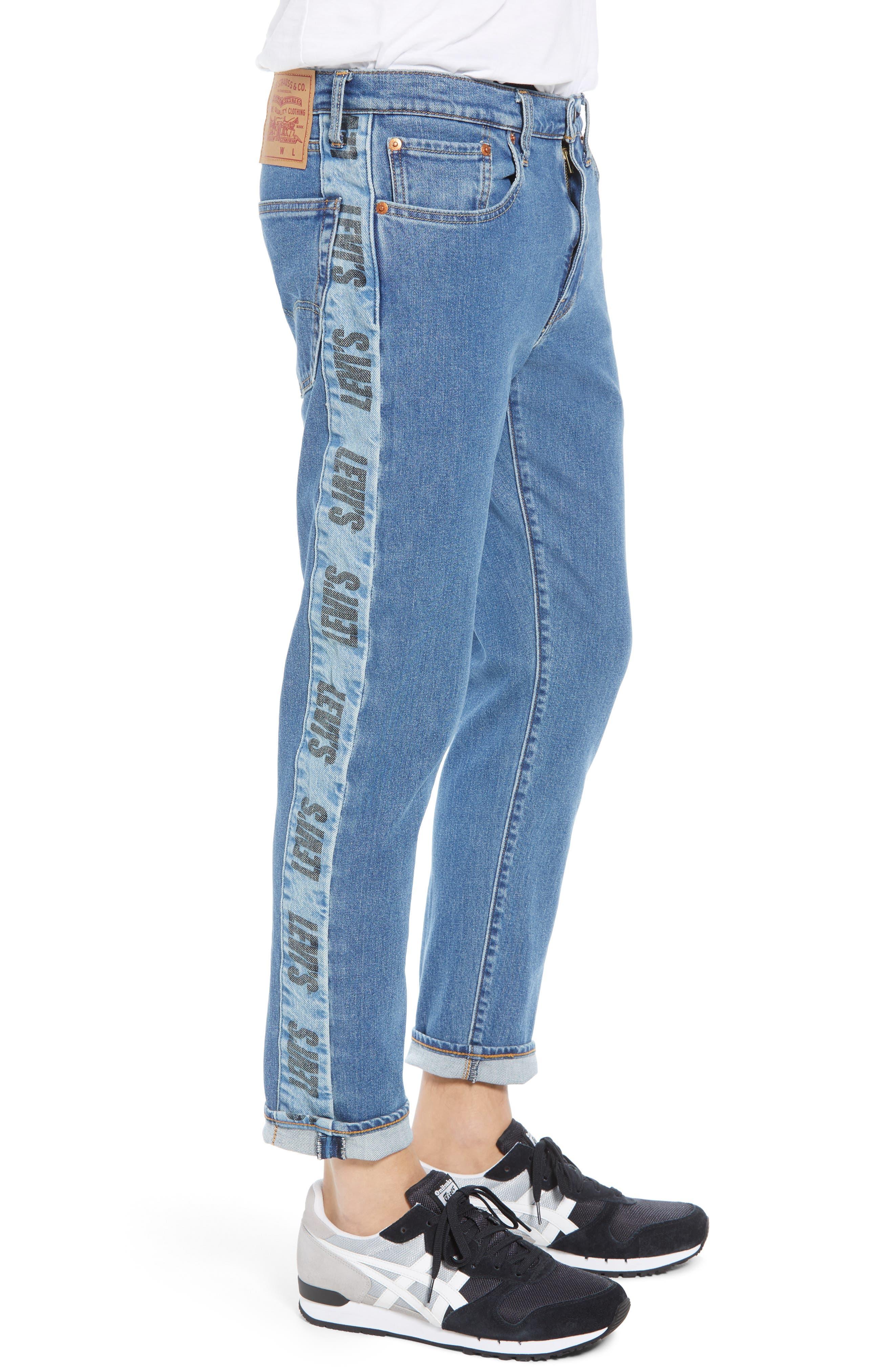 Hi-Ball Straight Leg Jeans,                             Alternate thumbnail 3, color,                             MEDIUM BLUE