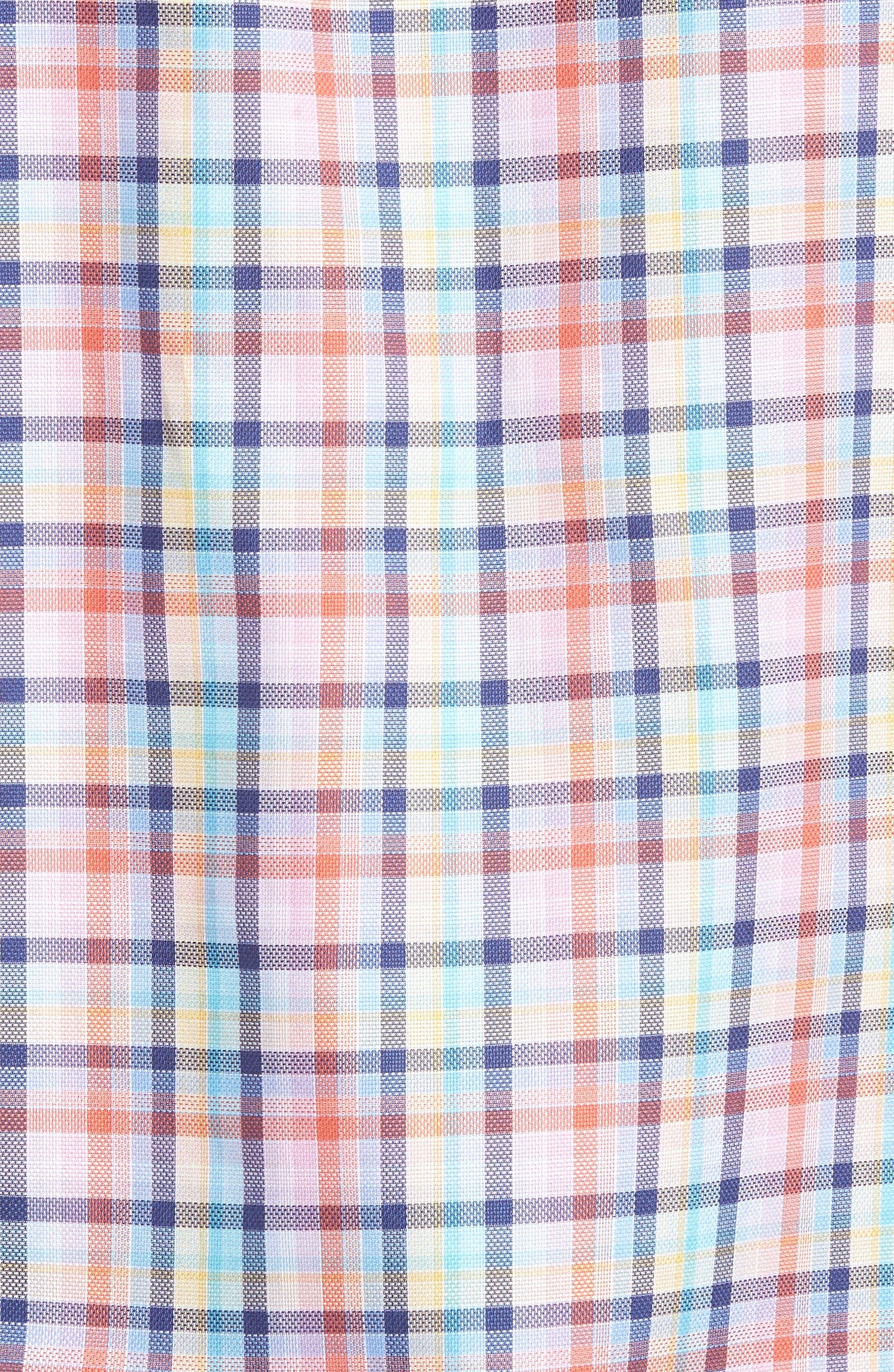 Classic Fit Check Short Sleeve Sport Shirt,                             Alternate thumbnail 5, color,                             953