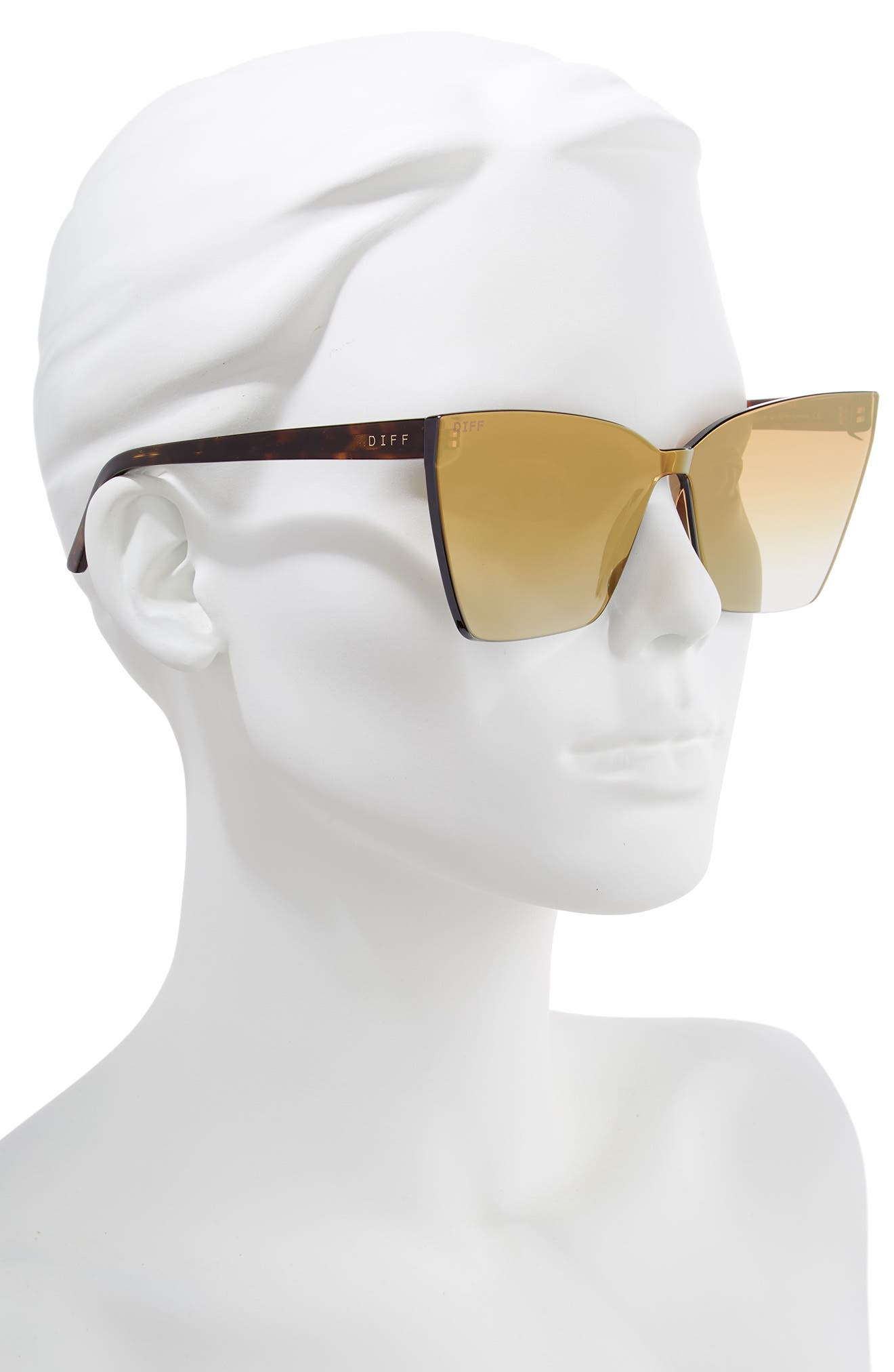 Goldie 65mm Rimless Butterfly Sunglasses,                             Alternate thumbnail 2, color,                             710