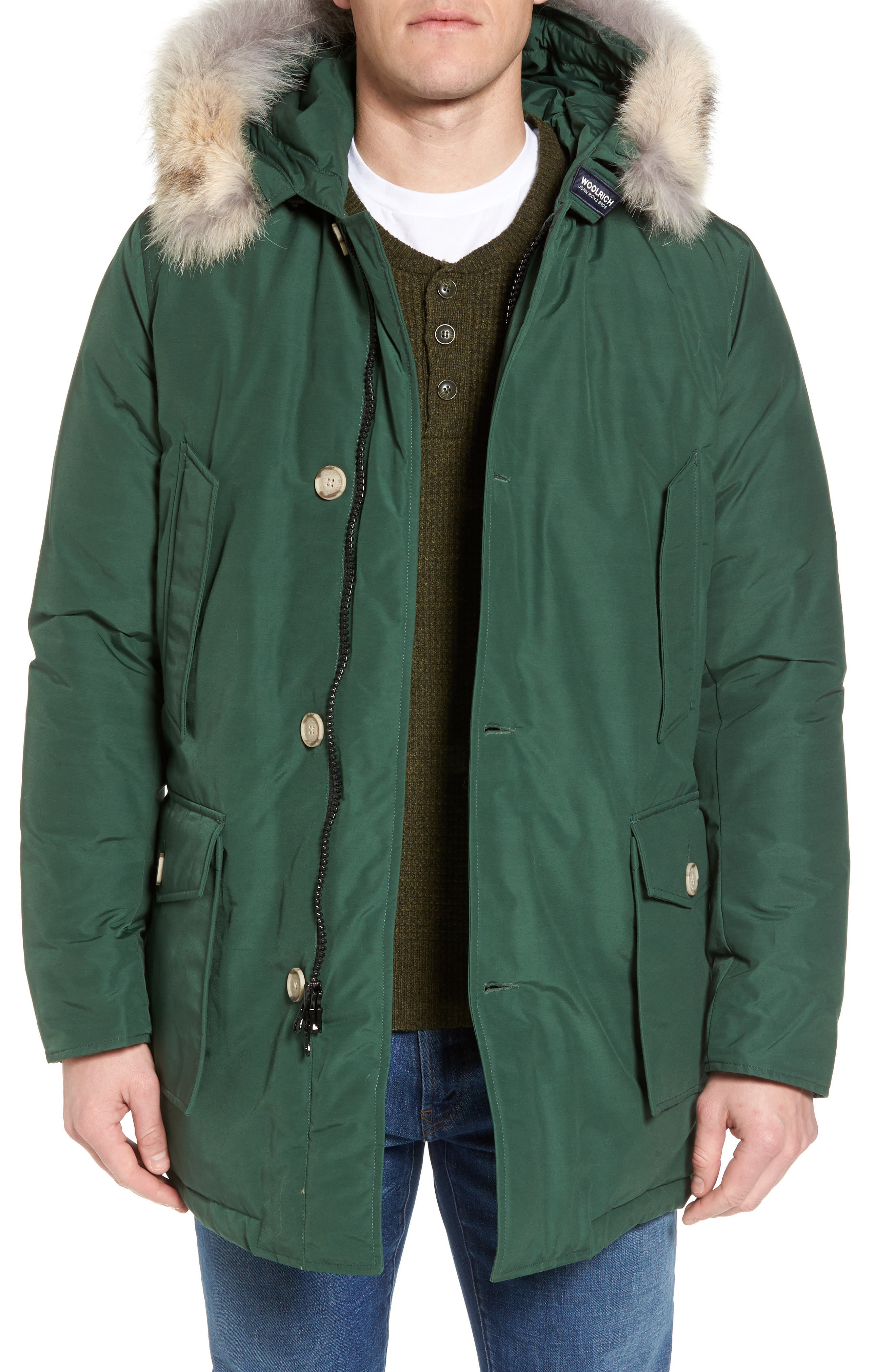 John Rich & Bros. Arctic Parka with Genuine Coyote Fur Trim,                             Main thumbnail 1, color,