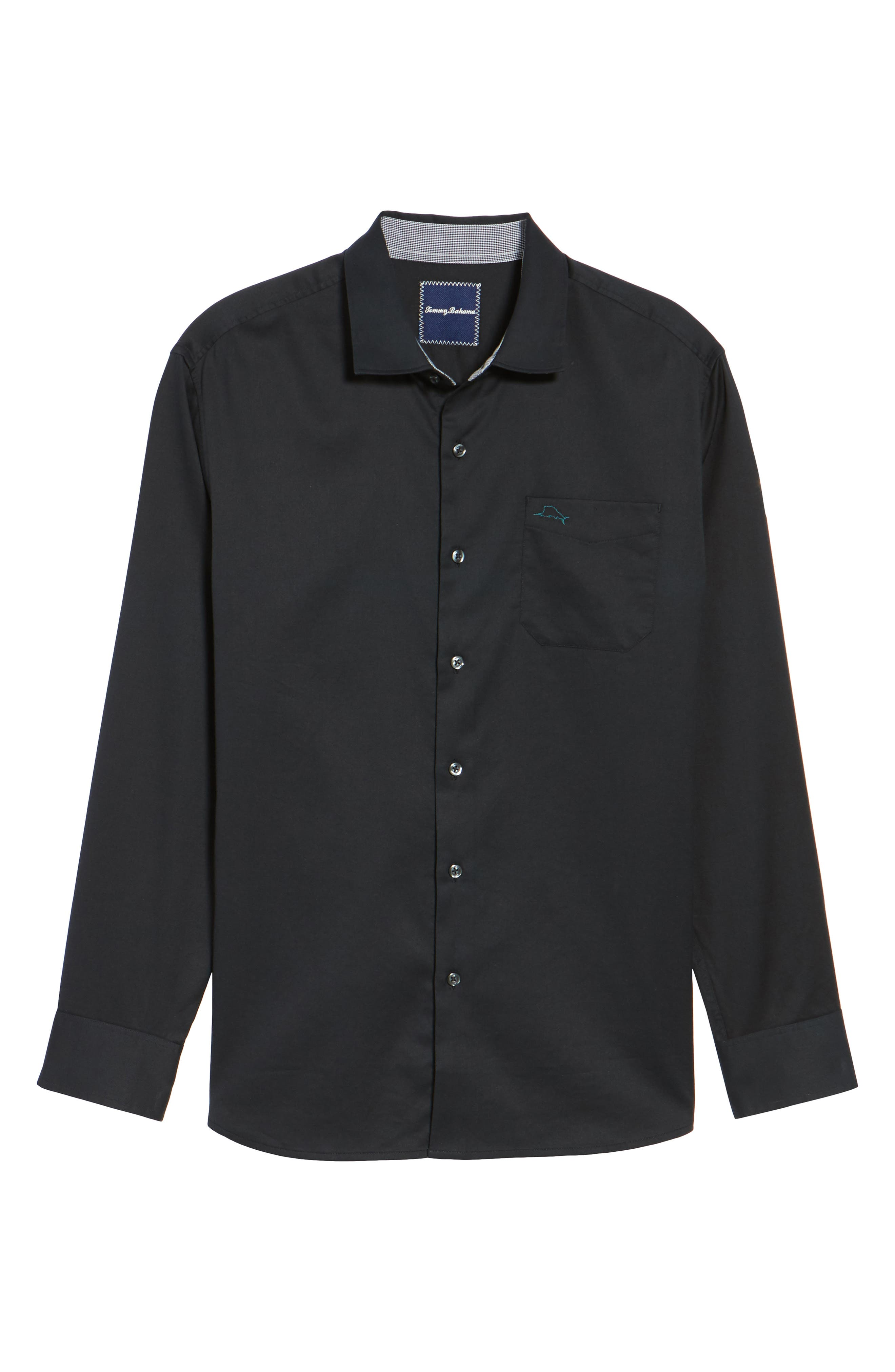 TOMMY BAHAMA,                             Oasis Twill Sport Shirt,                             Alternate thumbnail 6, color,                             001