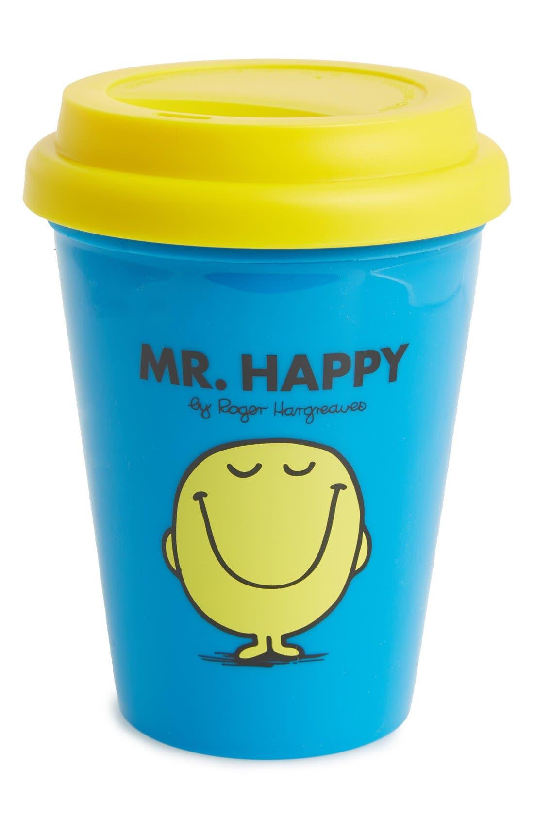 'Mr. Happy' Travel Mug,                             Main thumbnail 1, color,                             400