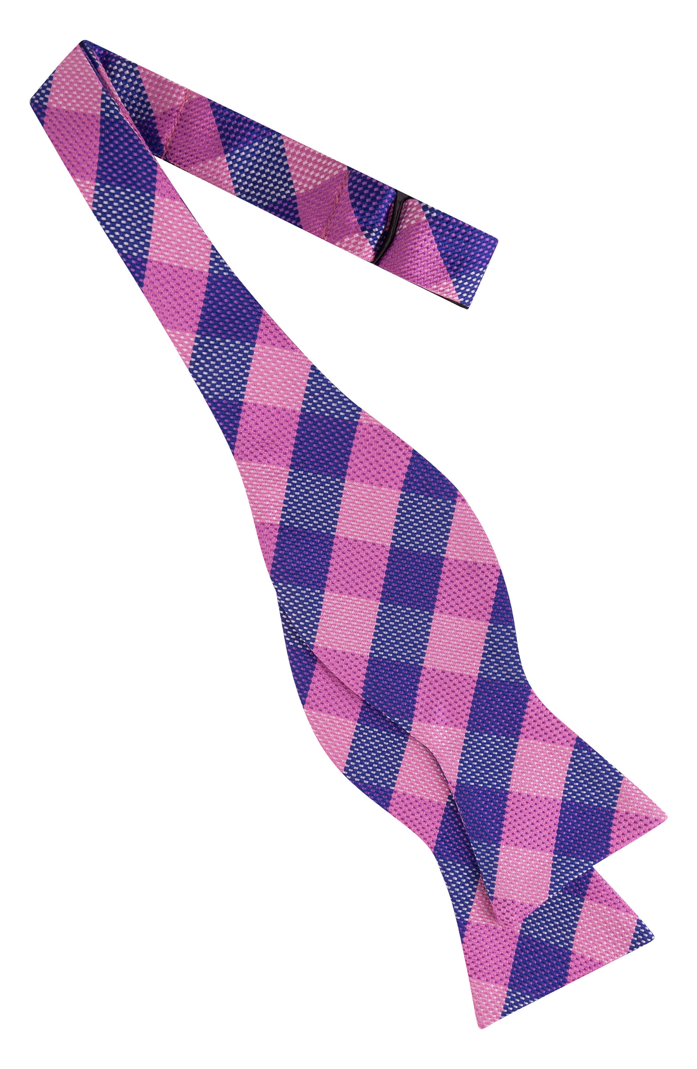 Derby Check Silk Bow Tie,                             Alternate thumbnail 9, color,