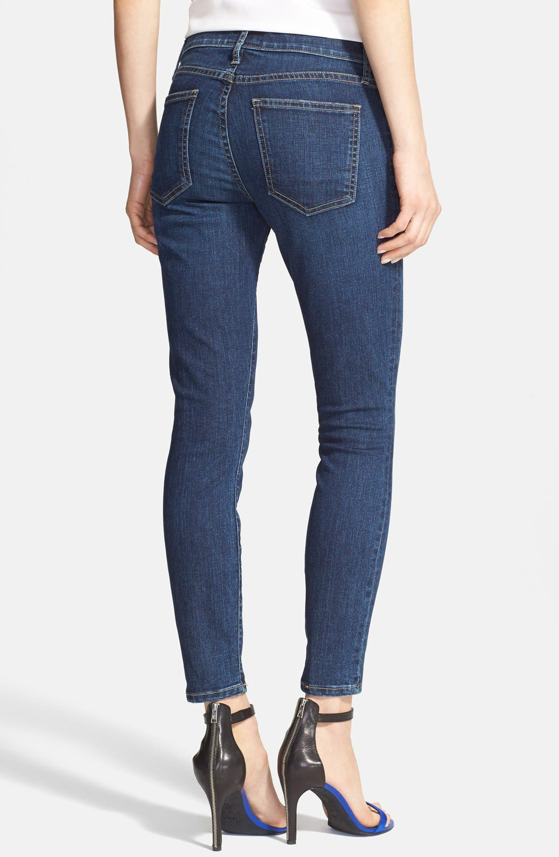 'The Stiletto' Stretch Jeans,                             Alternate thumbnail 4, color,