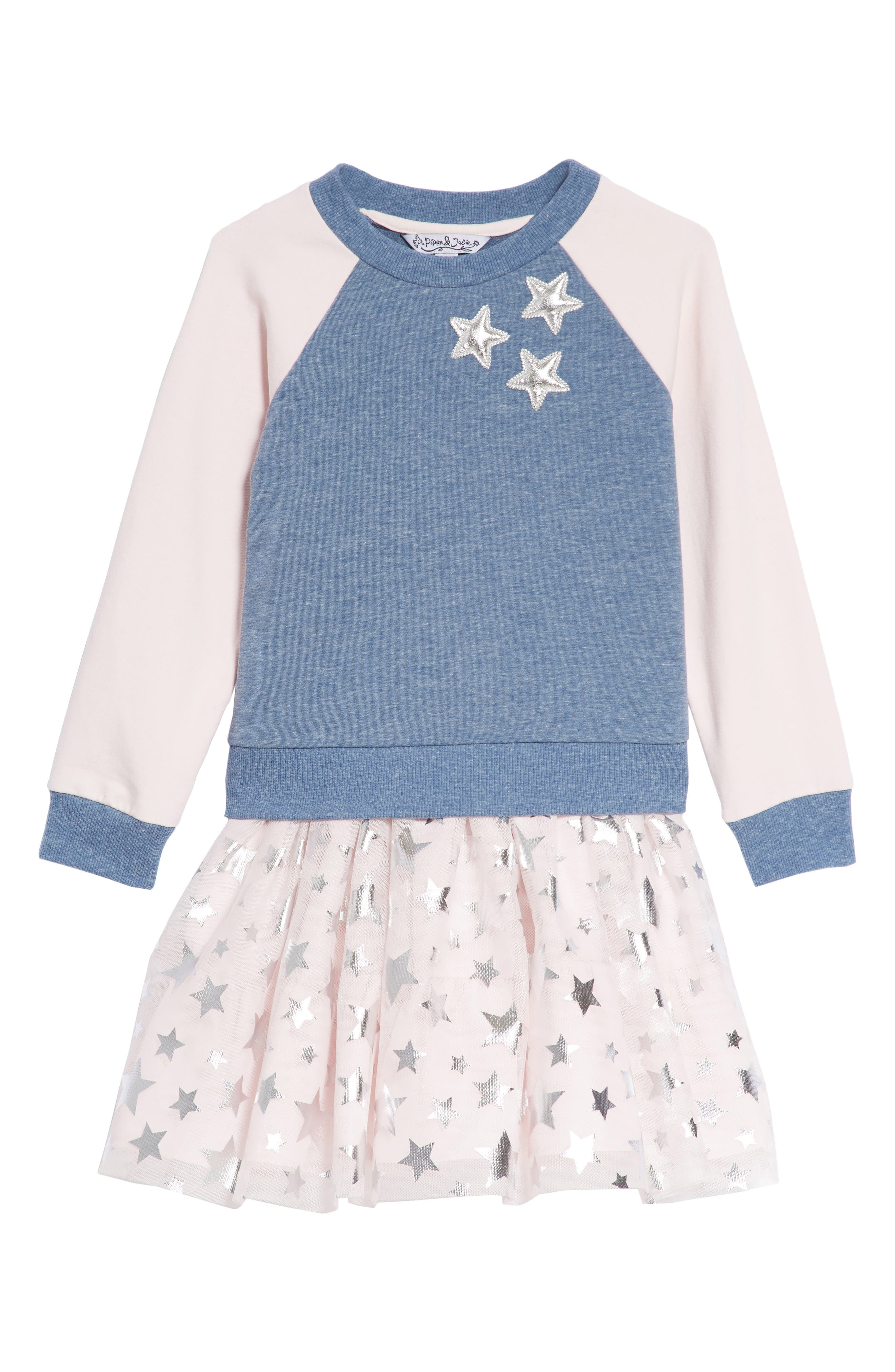Star Tank Dress & Sweatshirt Set,                             Main thumbnail 1, color,                             401