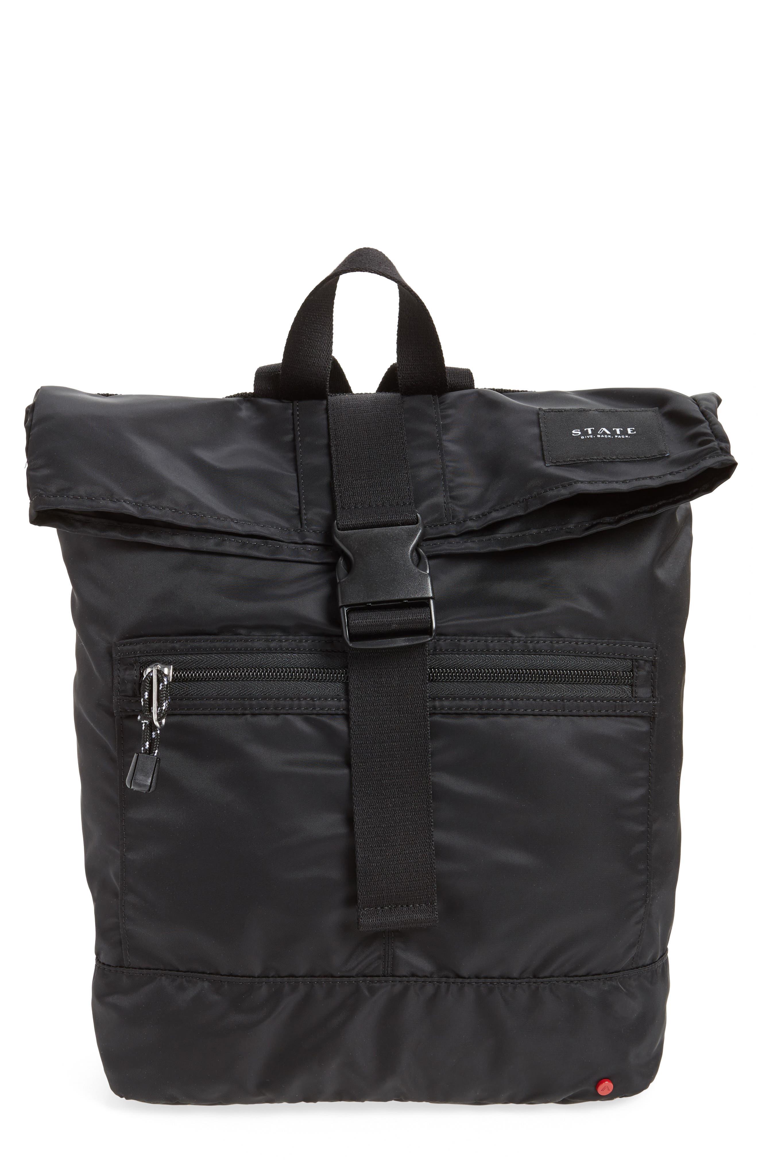 Bond Heights Packable Nylon Backpack,                             Main thumbnail 1, color,                             001