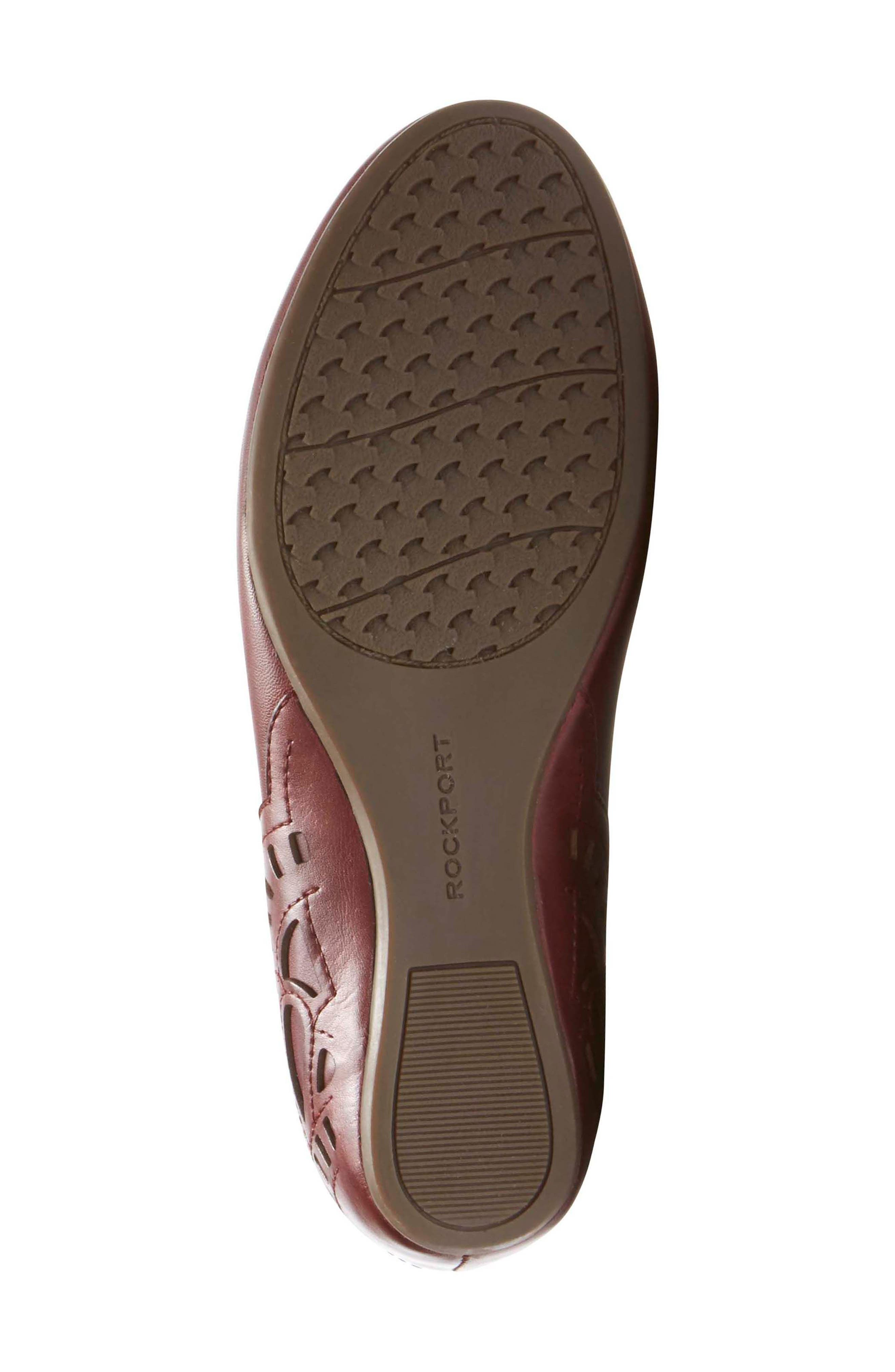 Sharleen Wedge Pump,                             Alternate thumbnail 6, color,                             MERLOT LEATHER