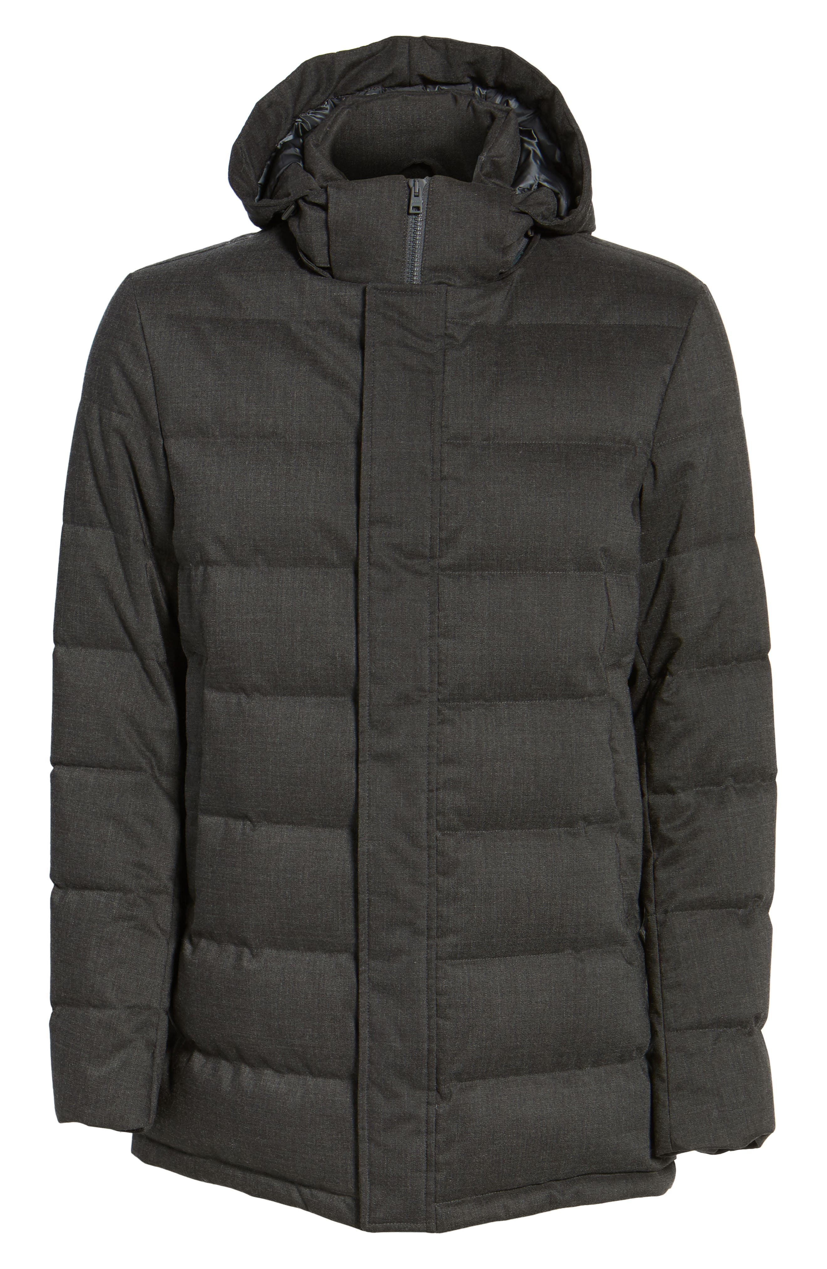 Techno Quilted Waterproof Down Jacket,                             Alternate thumbnail 5, color,                             050
