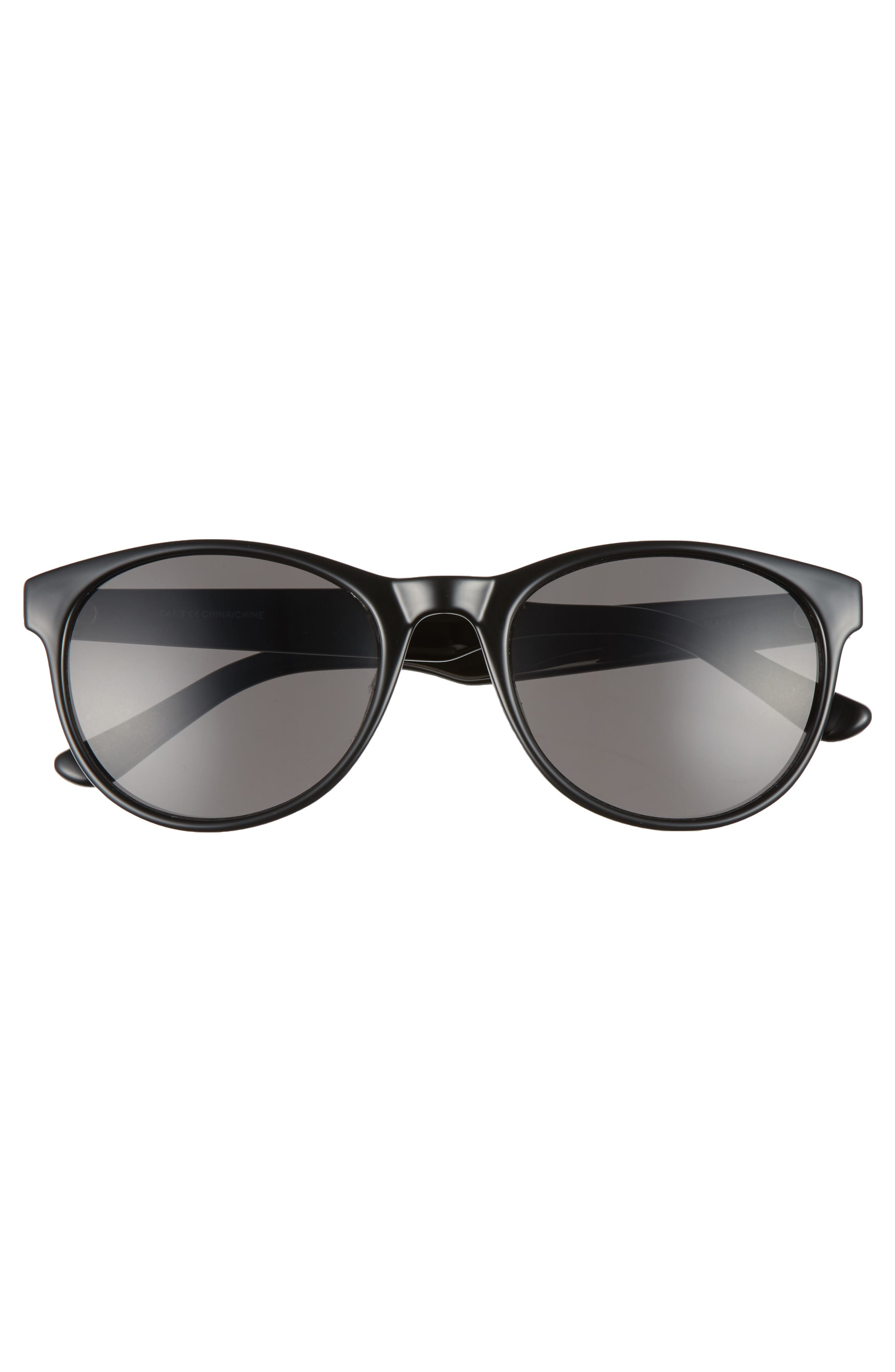Victor 54mm Sunglasses,                             Alternate thumbnail 2, color,                             BLACK/ GREY