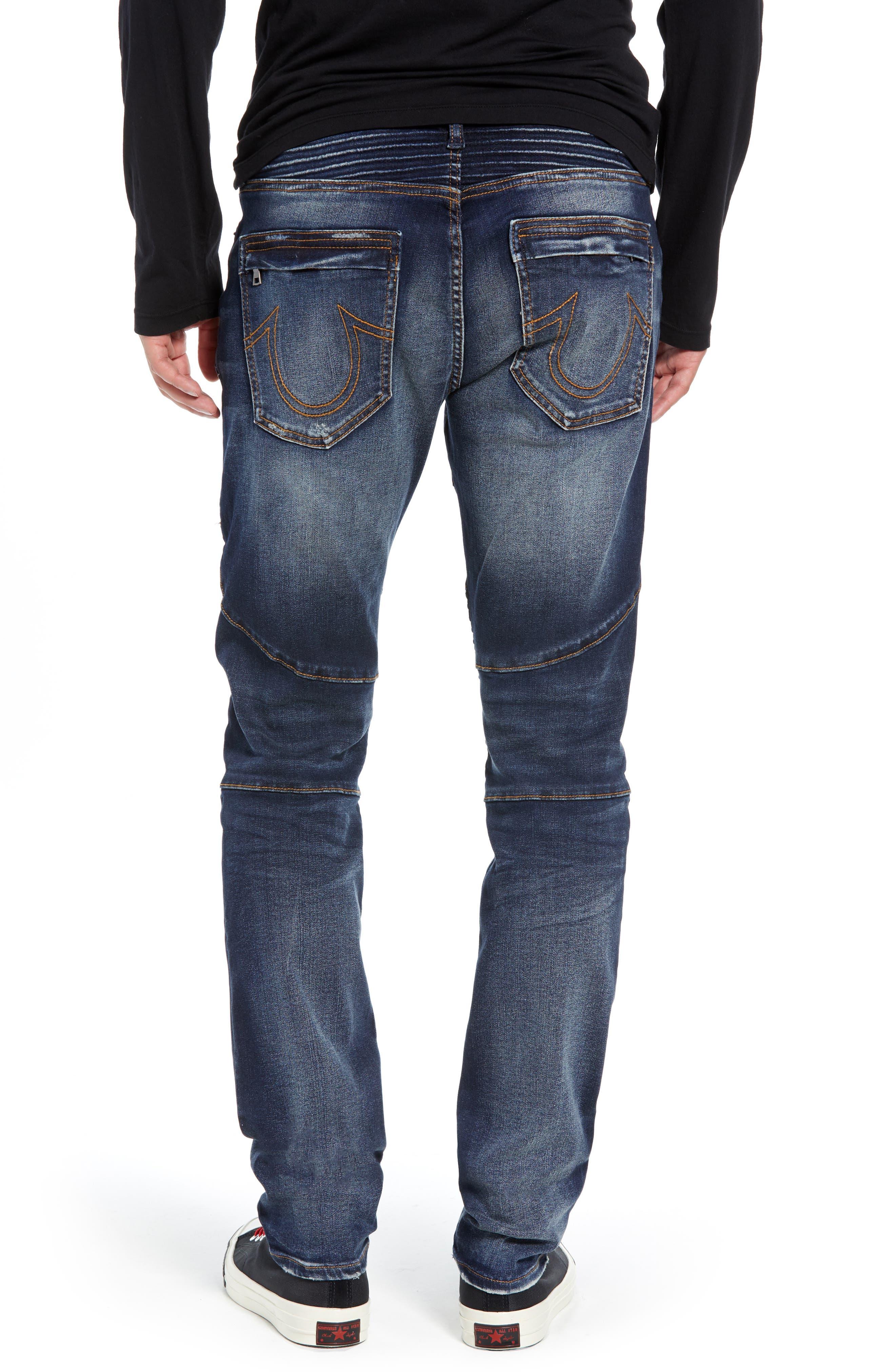Rocco Skinny Fit Moto Jeans,                             Alternate thumbnail 2, color,                             MINERAL ASPHALT