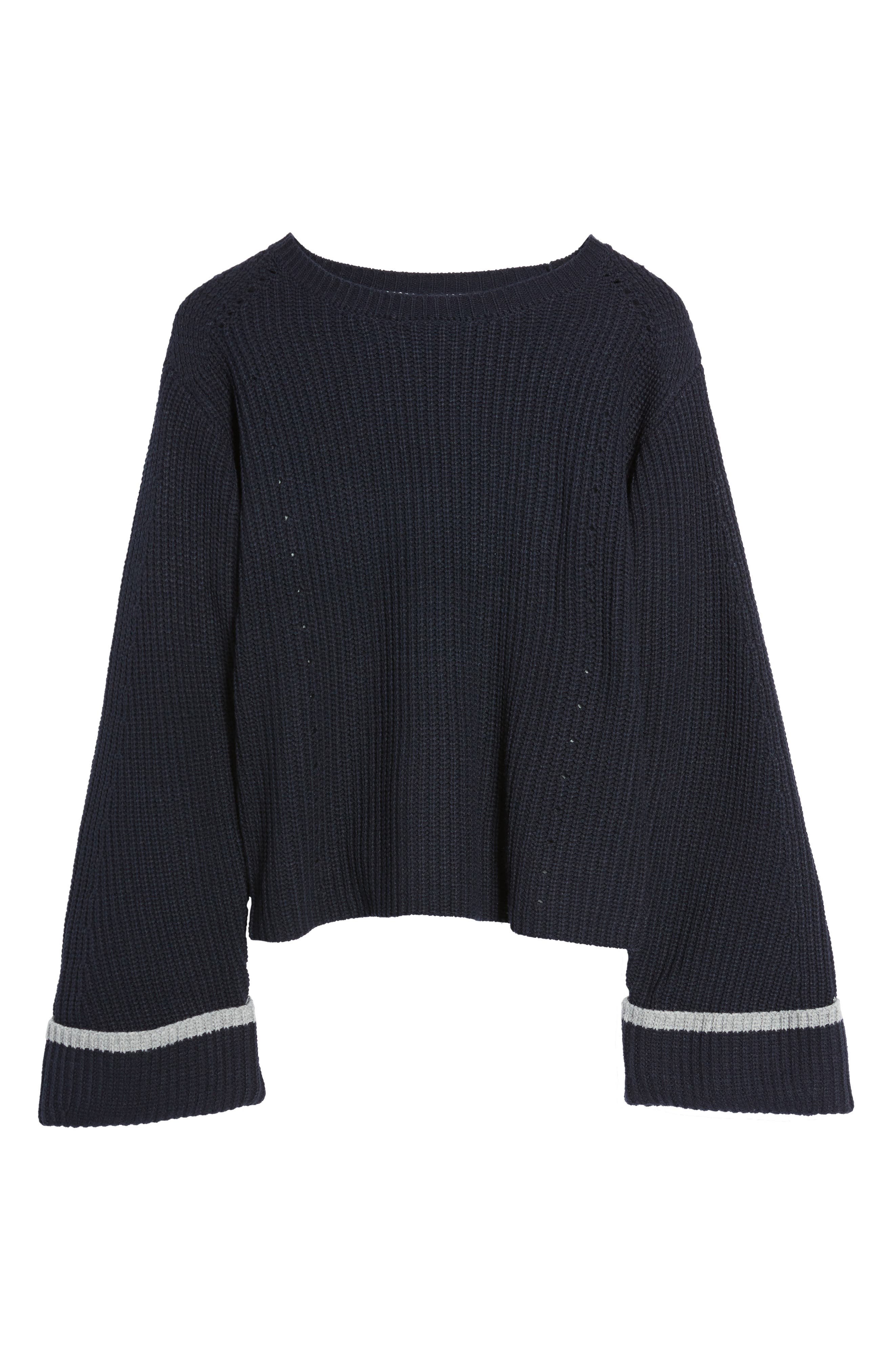 Colorblock Bell Sleeve Sweater,                             Alternate thumbnail 6, color,