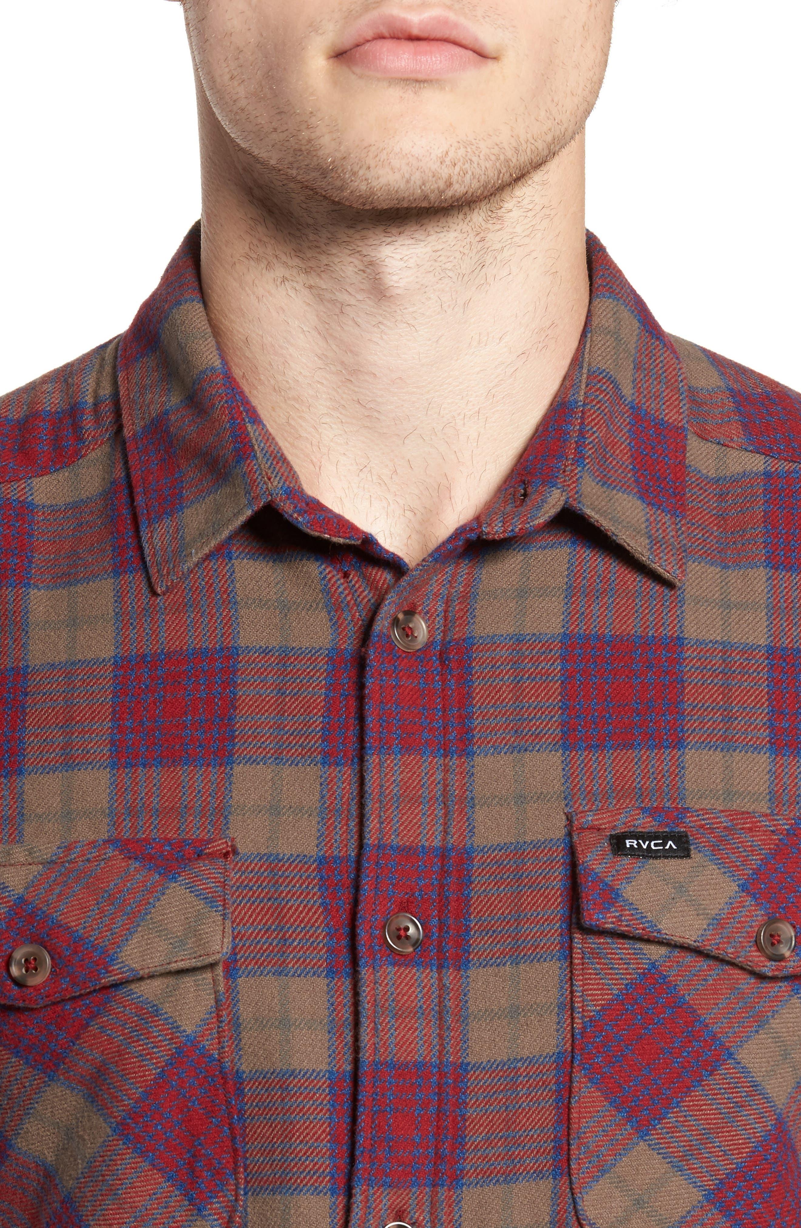 'That'll Work' Trim Fit Plaid Flannel Shirt,                             Alternate thumbnail 19, color,