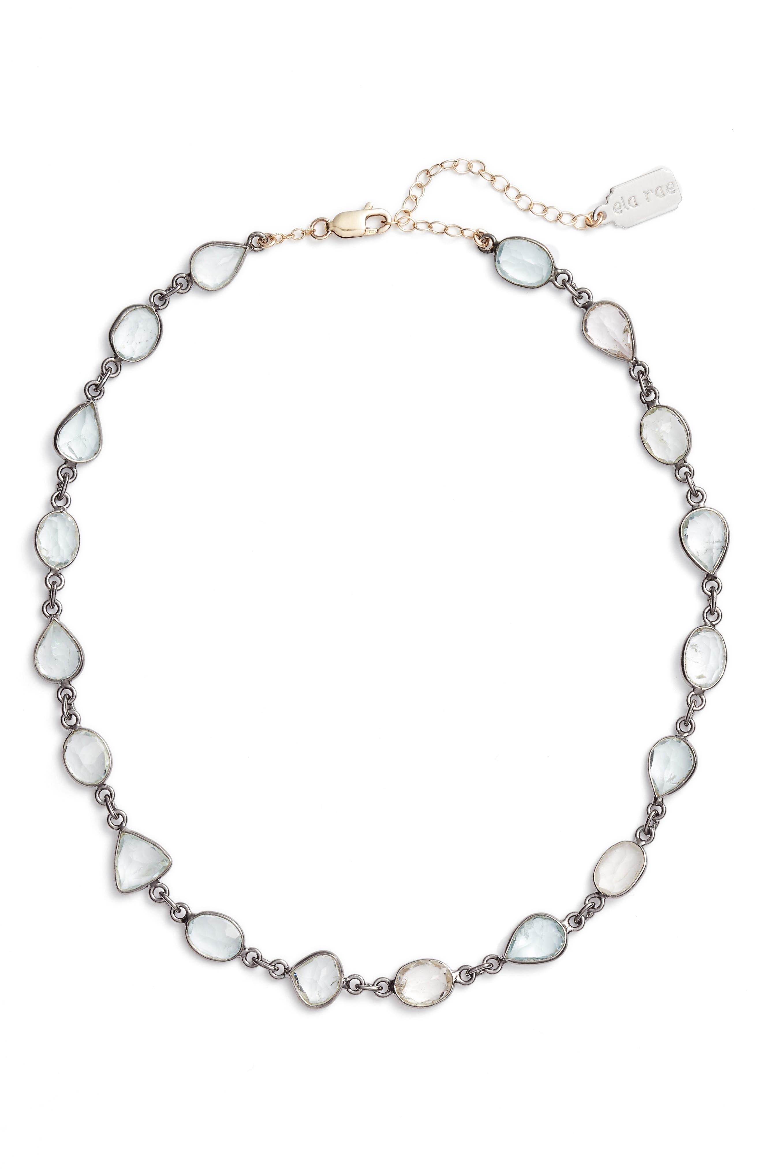Sadie Collar Necklace,                         Main,                         color, ROSE CUT AQUAMARINE