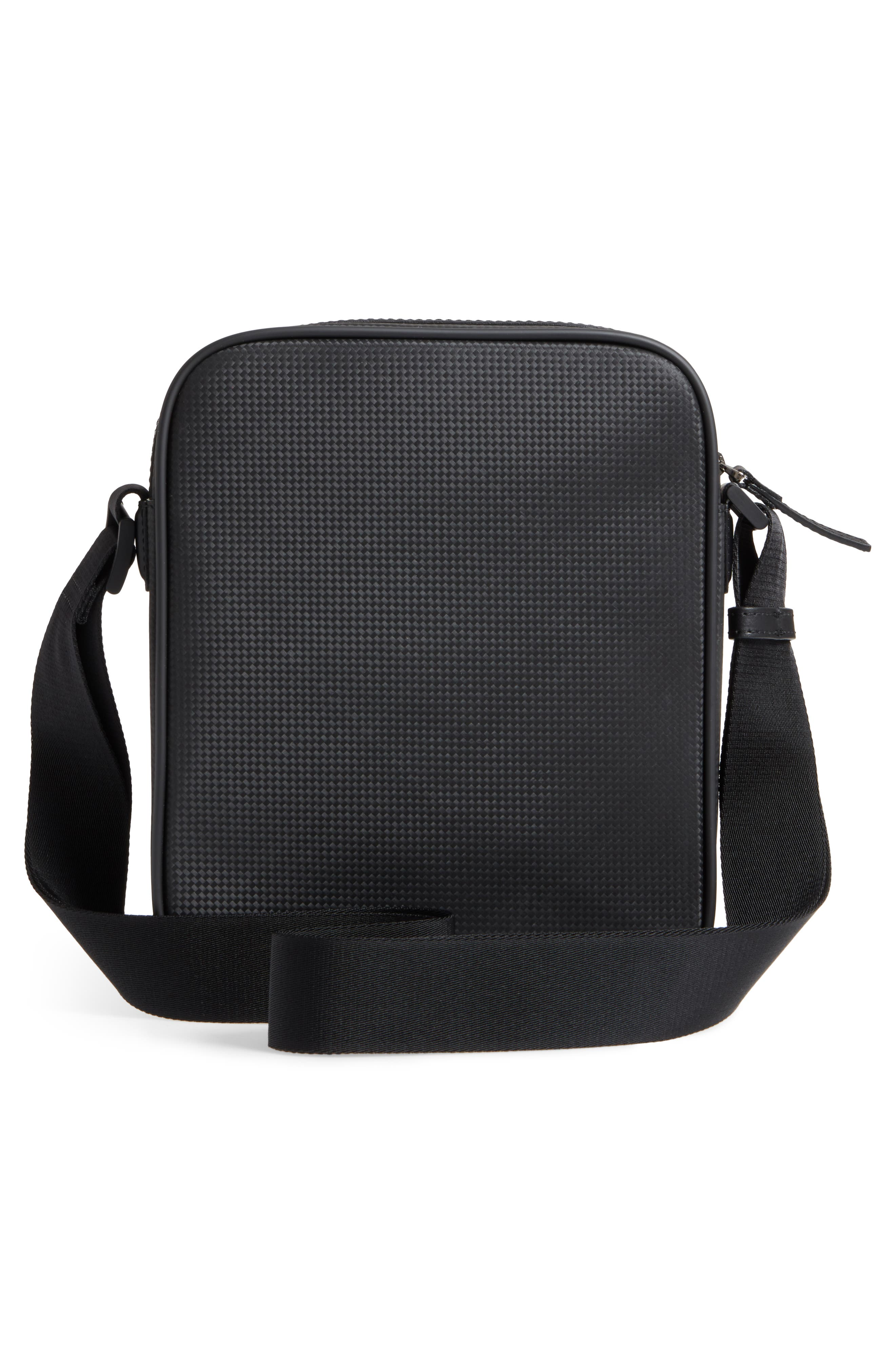 Extreme Reporter Leather Bag,                             Alternate thumbnail 3, color,                             BLACK