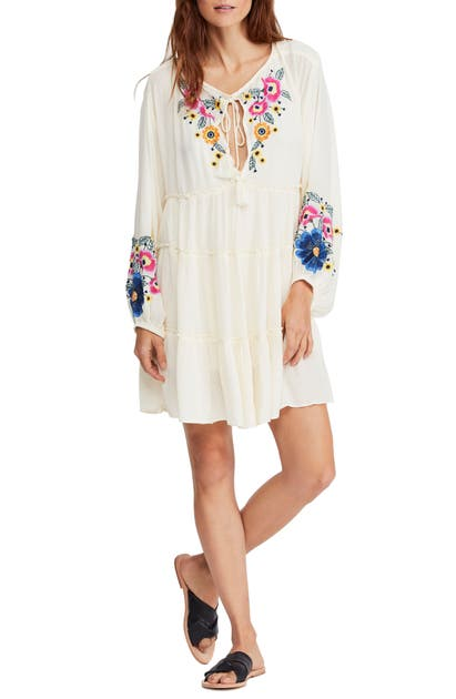 Free People Dresses SPELL ON YOU EMBROIDERED MINIDRESS