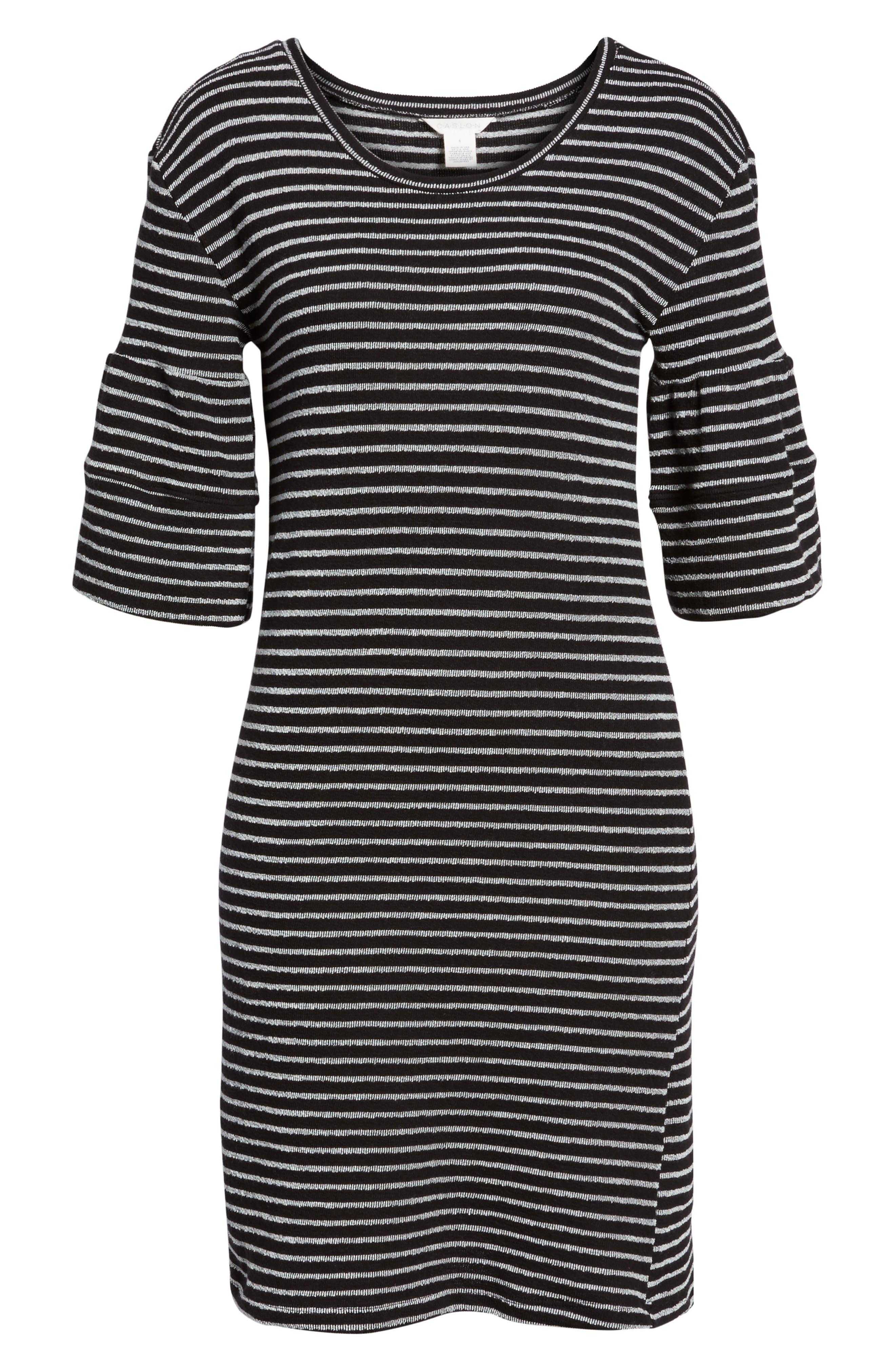 Ruffle Sleeve Knit Dress,                             Alternate thumbnail 16, color,