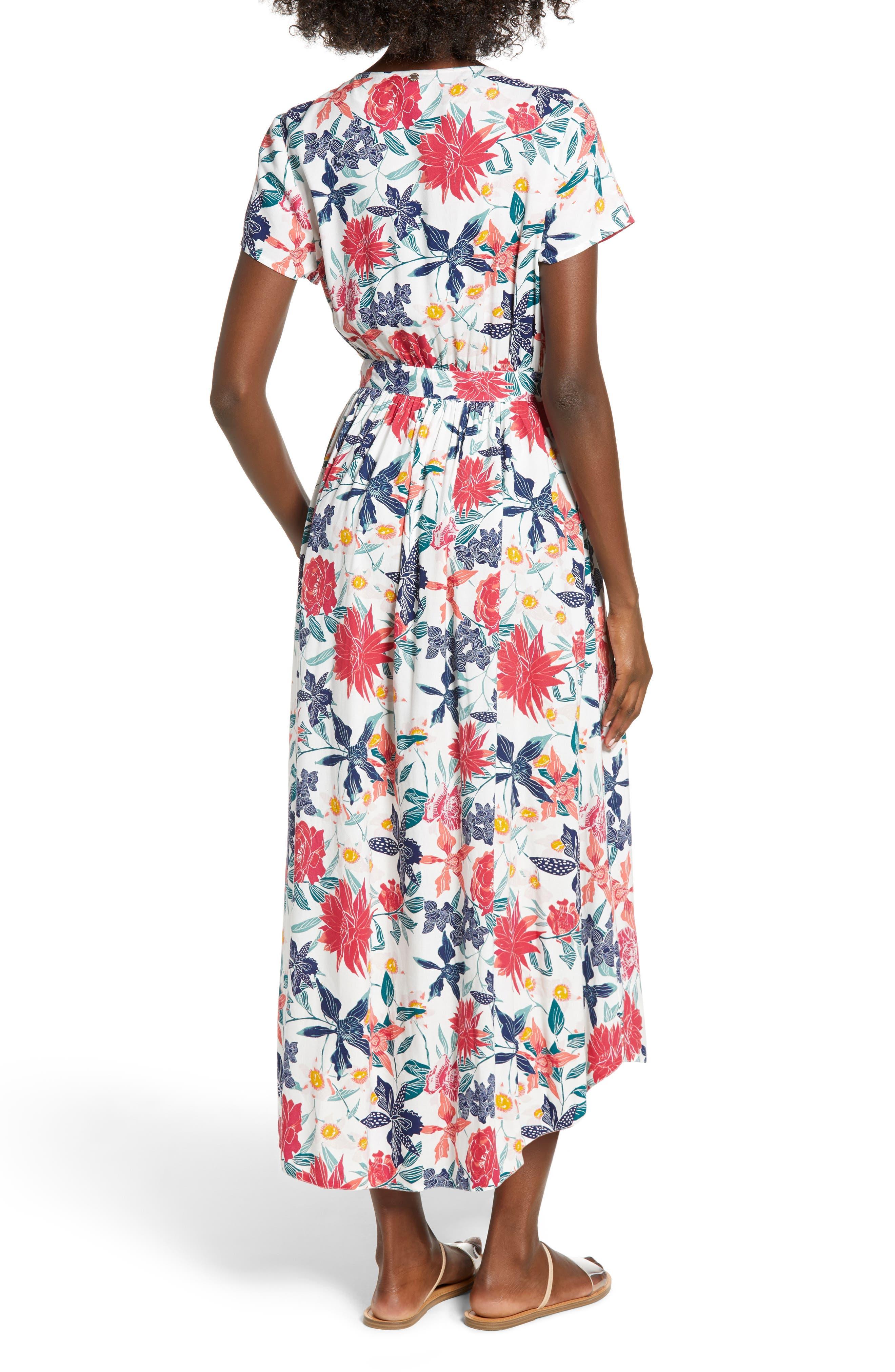 District Nights Floral Print Dress,                             Alternate thumbnail 2, color,                             100