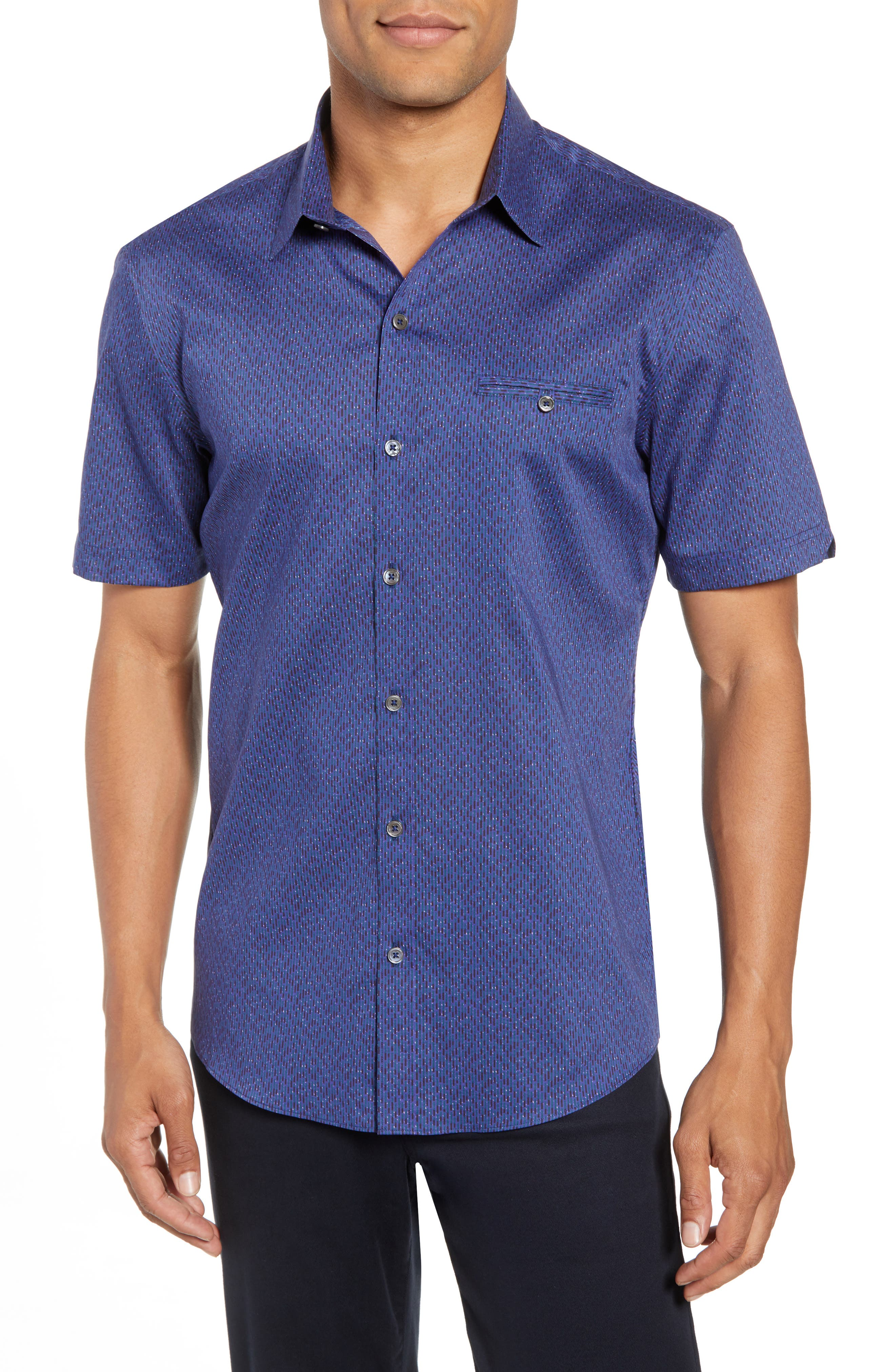 Print Sport Shirt,                         Main,                         color, 410