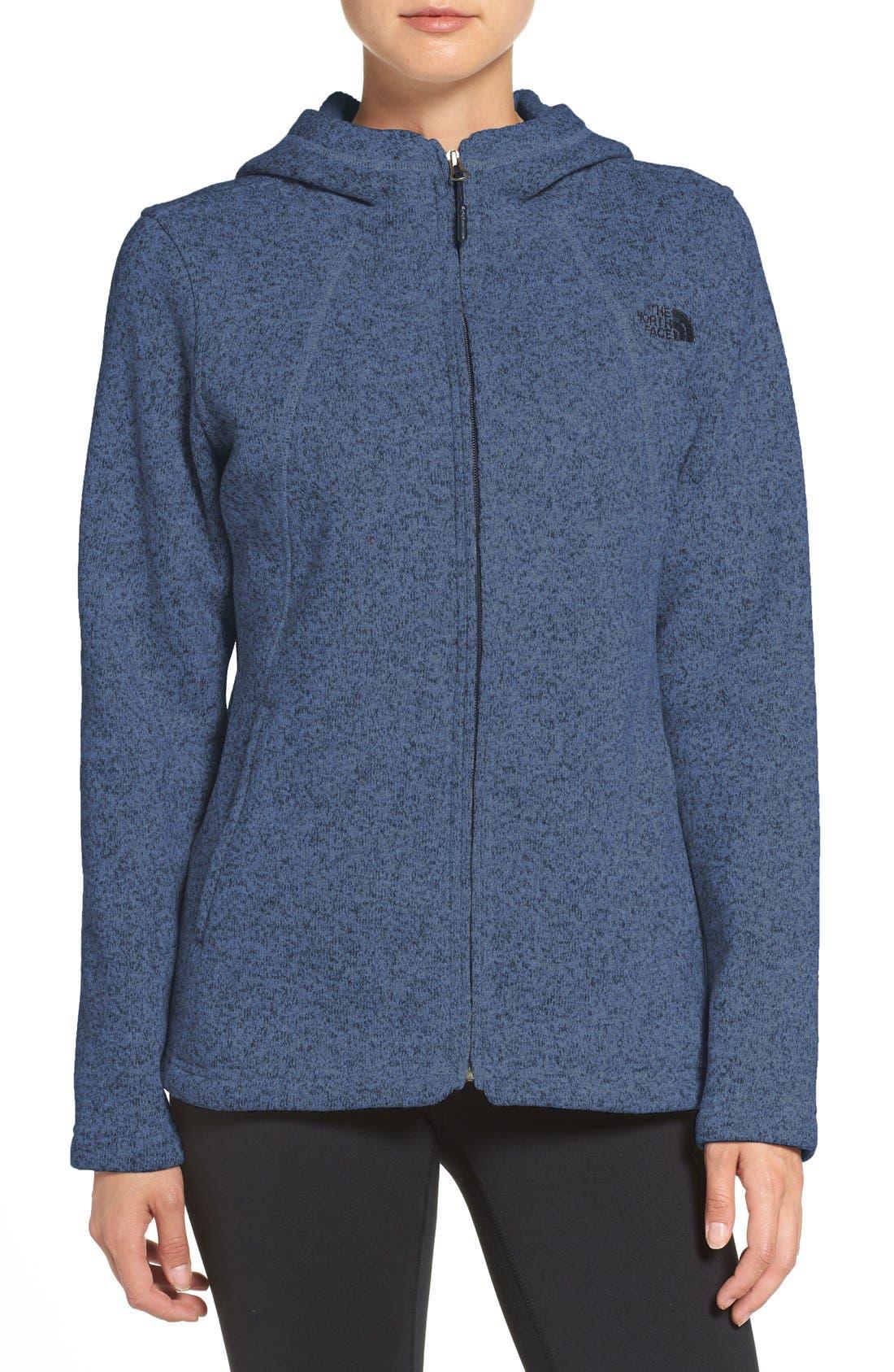 'Crescent' Fleece Jacket,                             Main thumbnail 7, color,