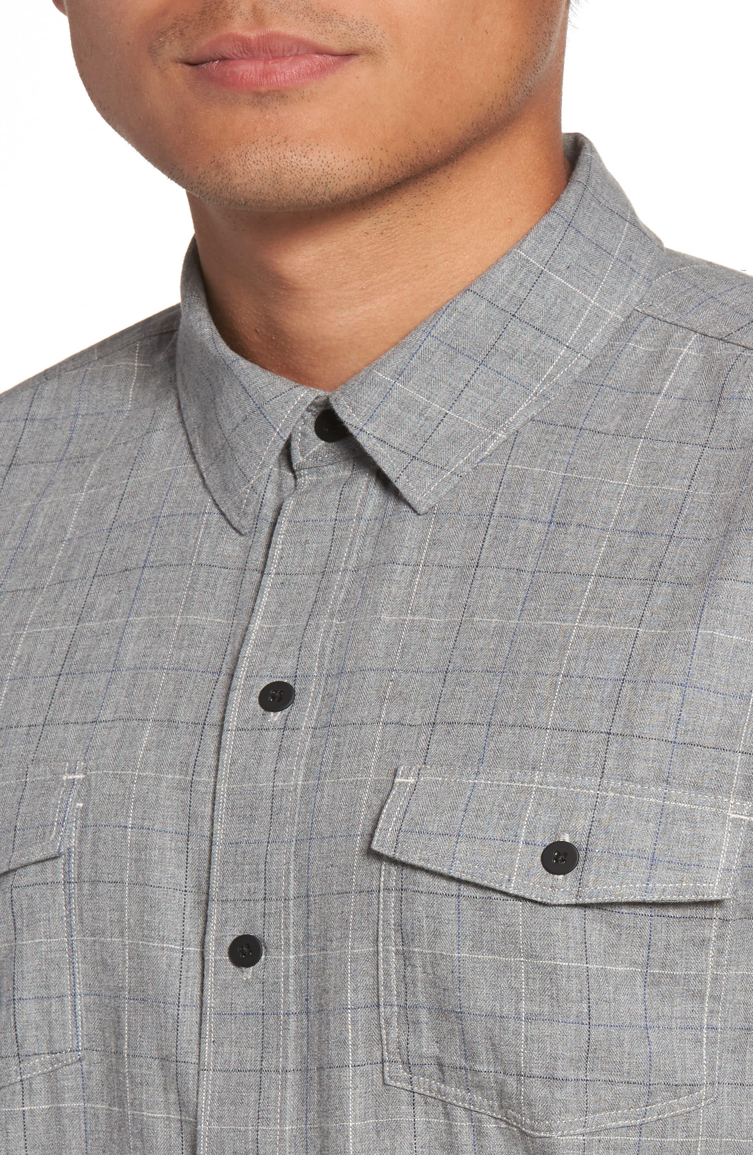 Everett Tattersall Sport Shirt,                             Alternate thumbnail 4, color,                             020