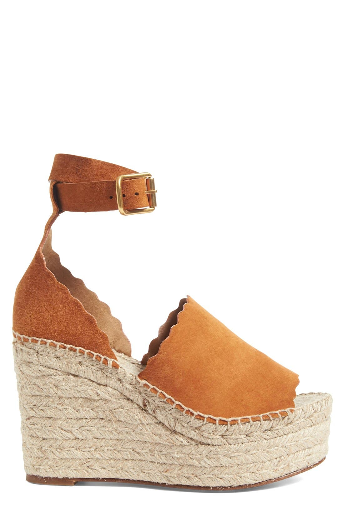 Lauren Espadrille Wedge Sandal,                             Alternate thumbnail 5, color,