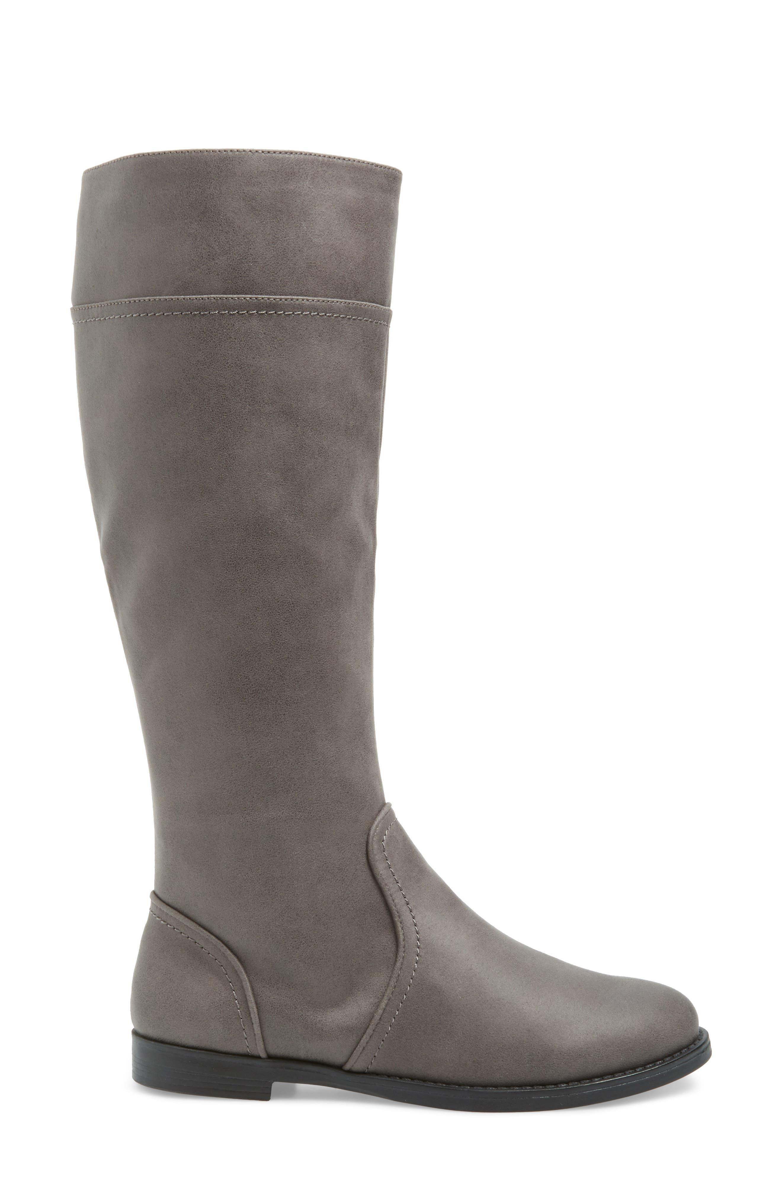 Rebecca II Knee High Boot,                             Alternate thumbnail 3, color,                             GREY