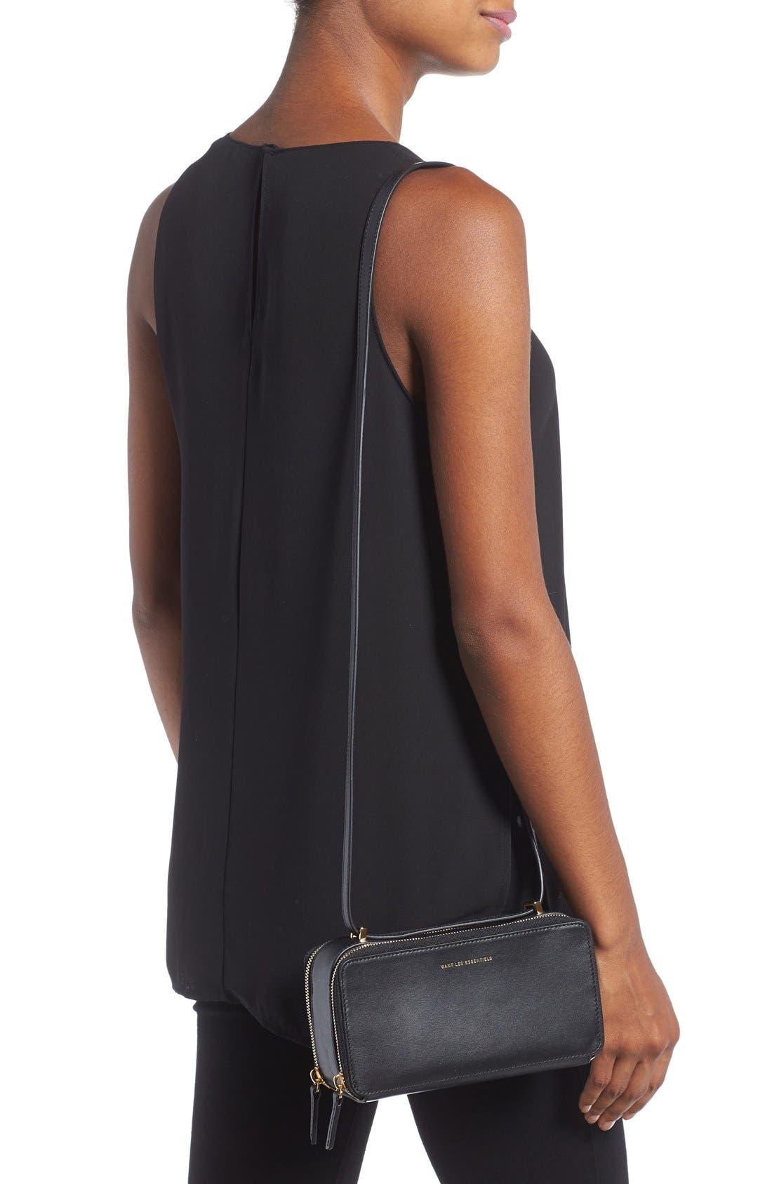 WANT LES ESSENTIELS,                             'Demiranda' Leather Shoulder Bag,                             Alternate thumbnail 3, color,                             001