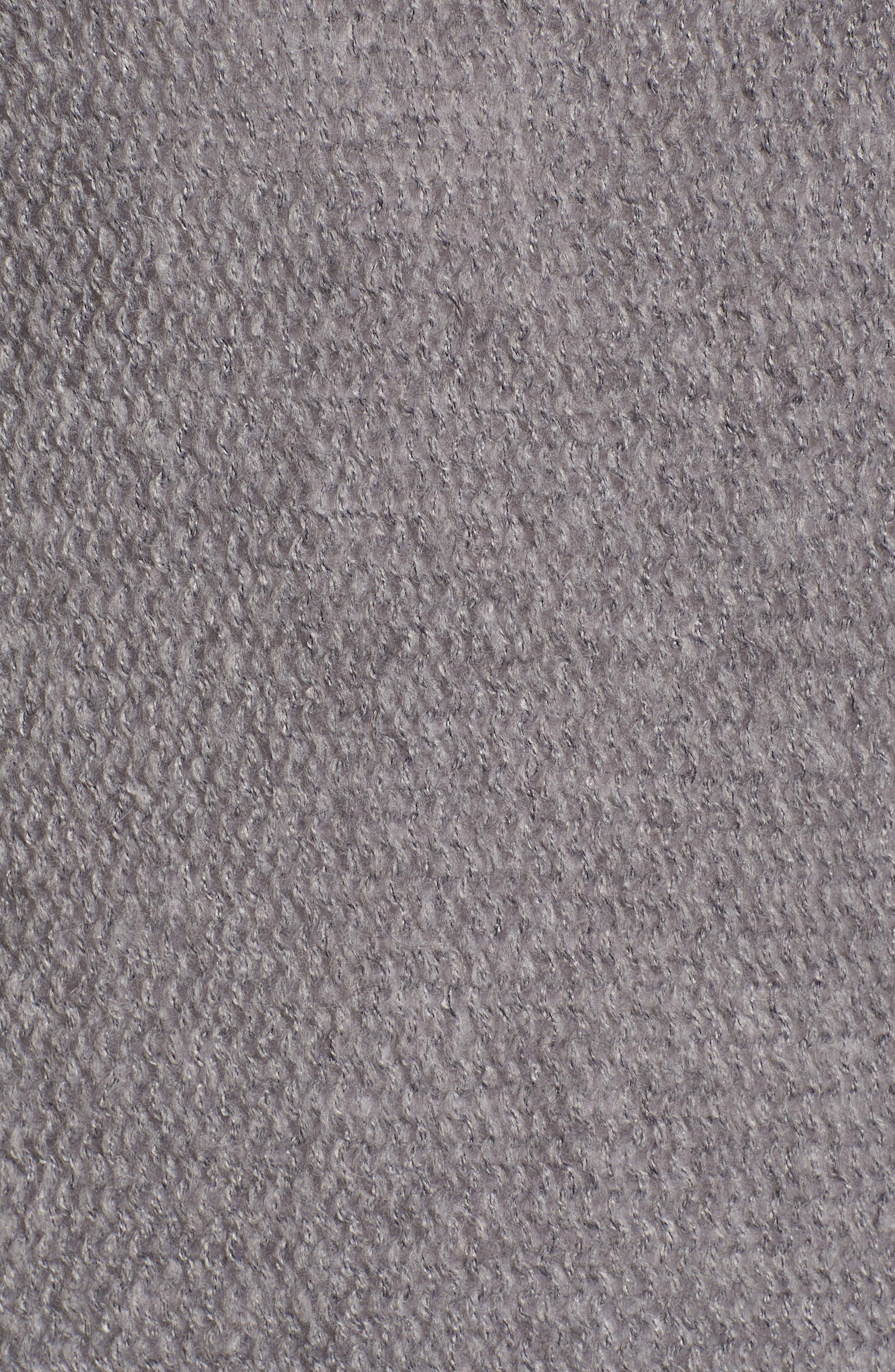 Tunic Sweater,                             Alternate thumbnail 5, color,                             GREY DARK HEATHER