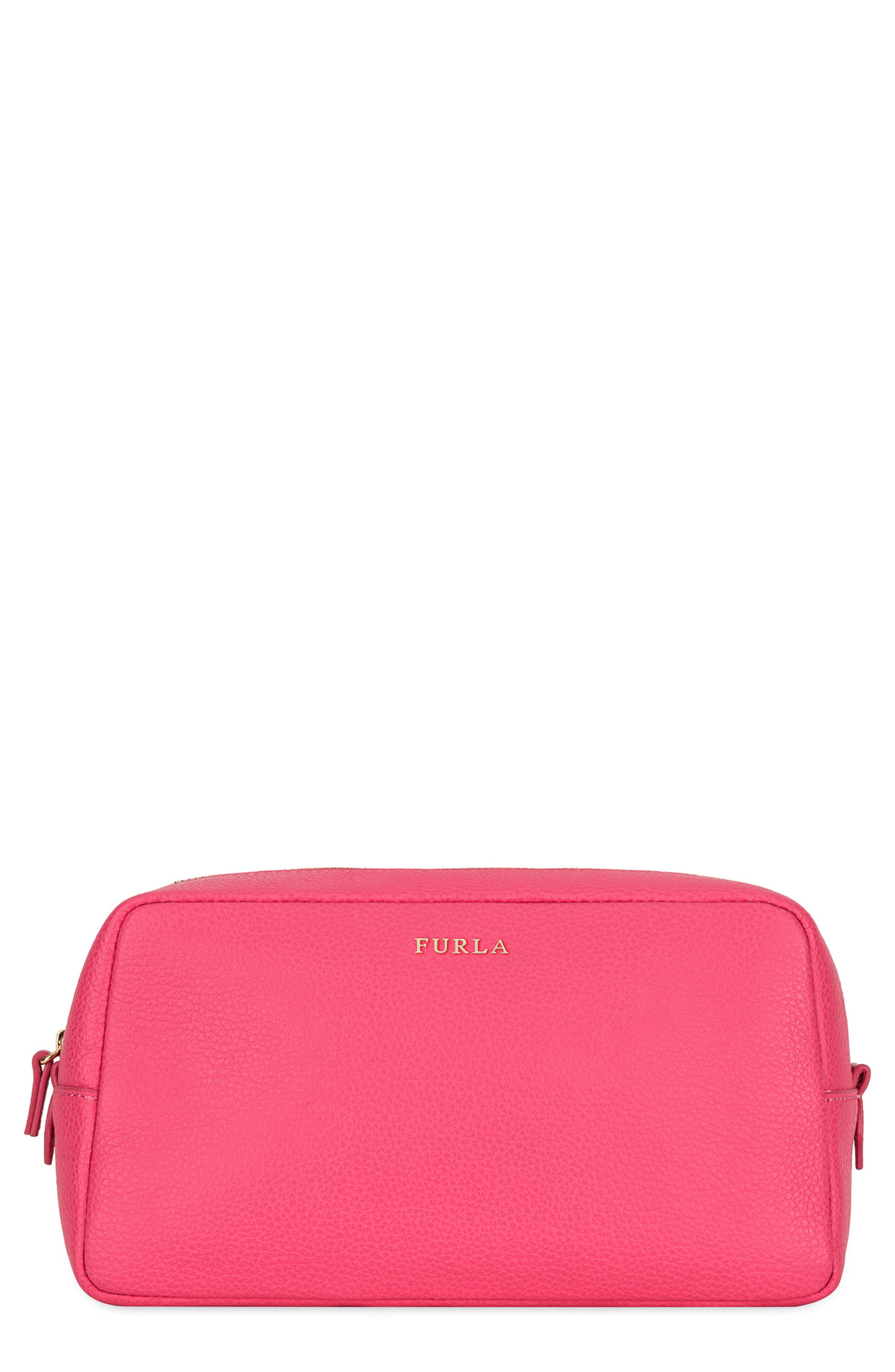 Bloom Extra Large Leather Cosmetic Bag,                         Main,                         color,