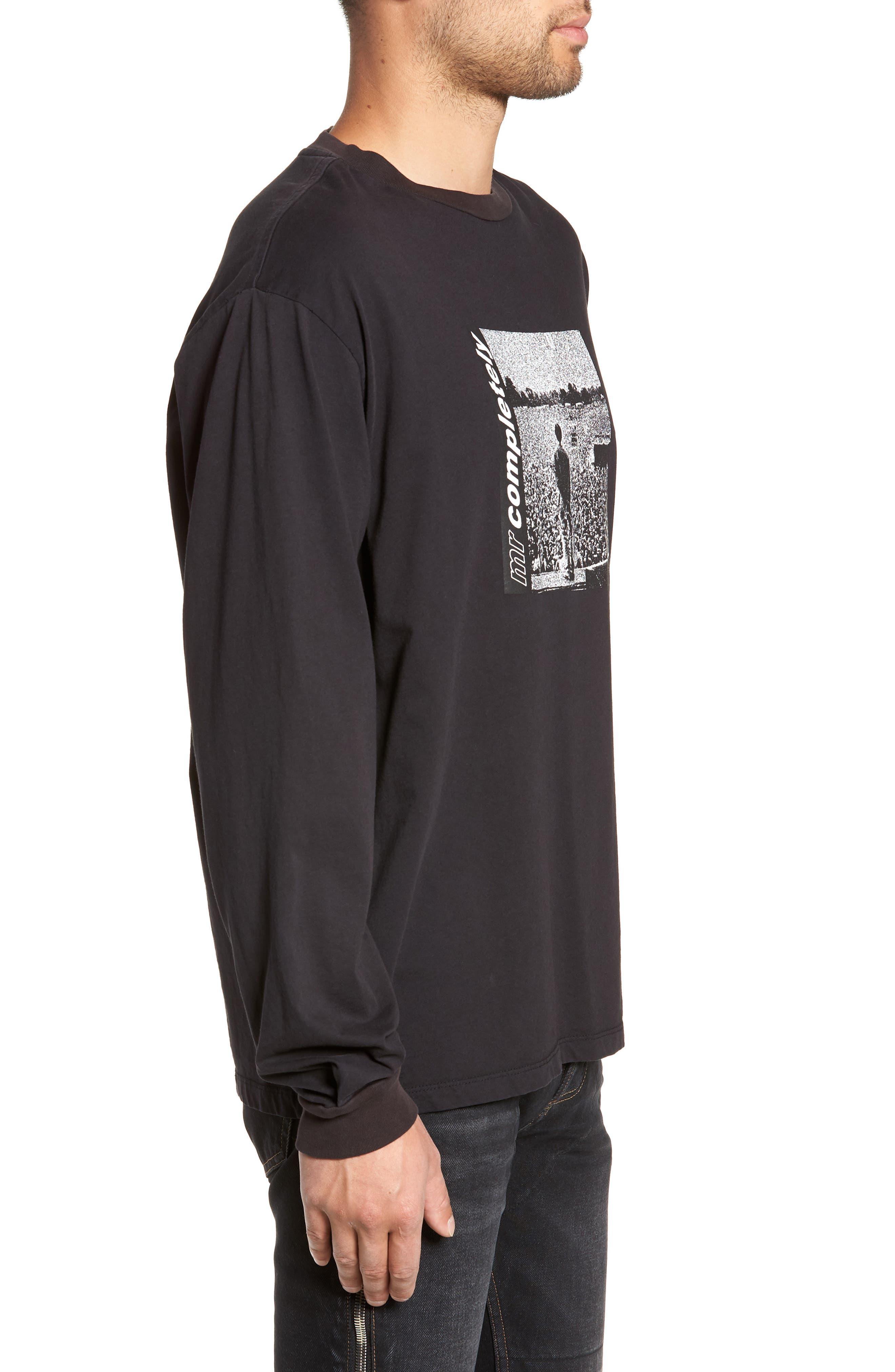 Oasis Oversize Long Sleeve T-Shirt,                             Alternate thumbnail 3, color,                             001