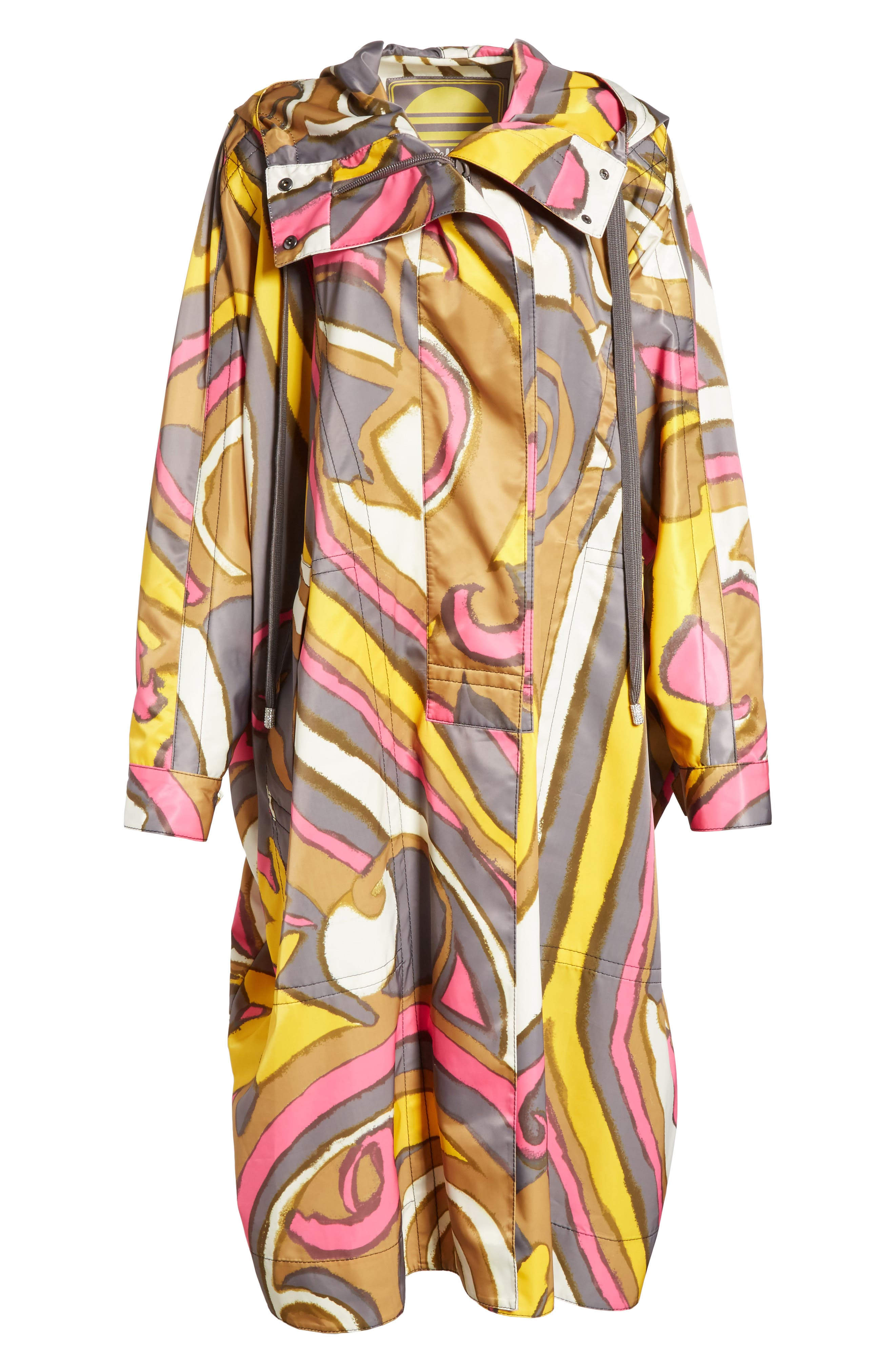 Retro Print Oversize Coat,                             Alternate thumbnail 5, color,                             060