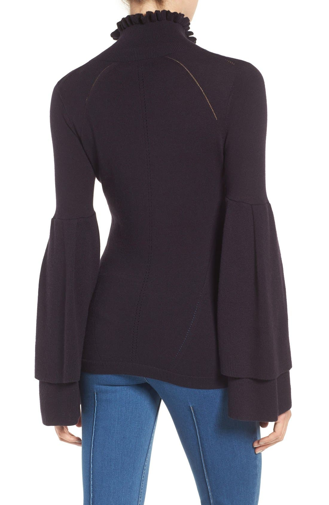 Olivia Palermo + Chelsea 28 Bell Sleeve Sweater,                             Alternate thumbnail 2, color,                             410