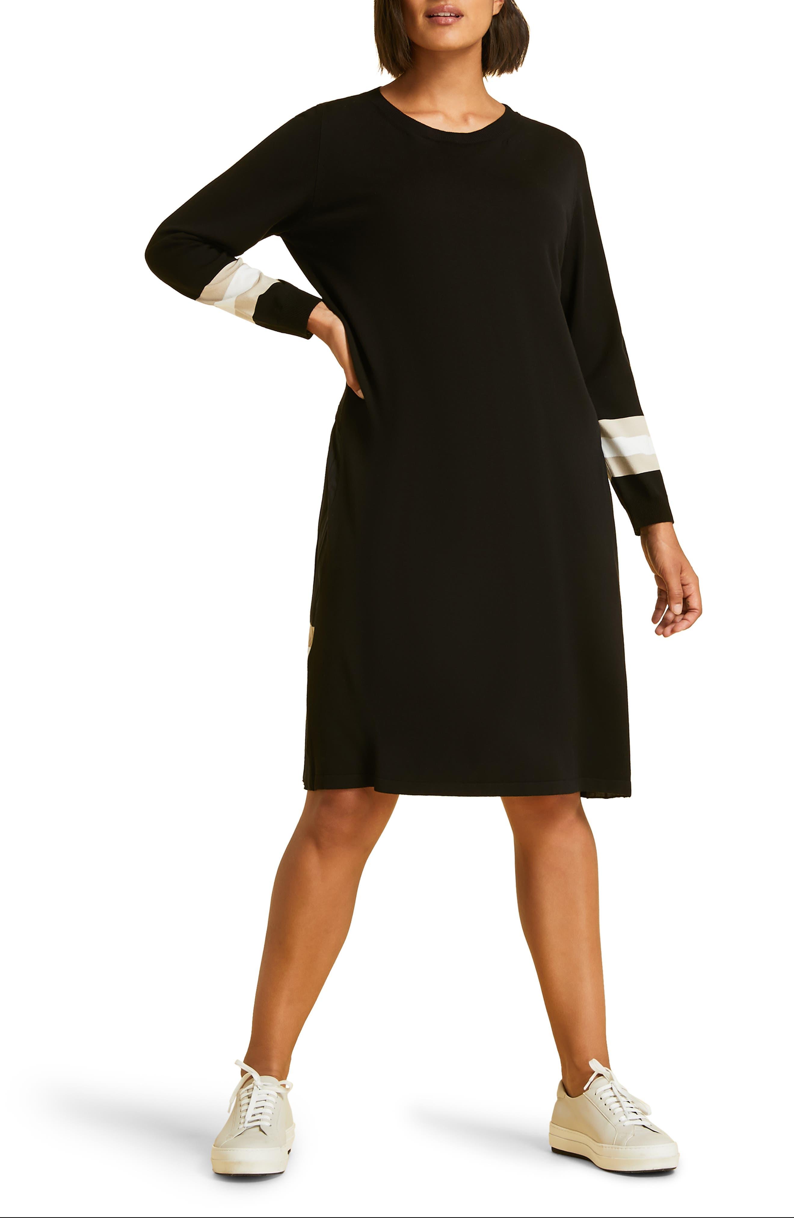 Plus Size Marina Rinaldi Gabri Knit Dress, Black