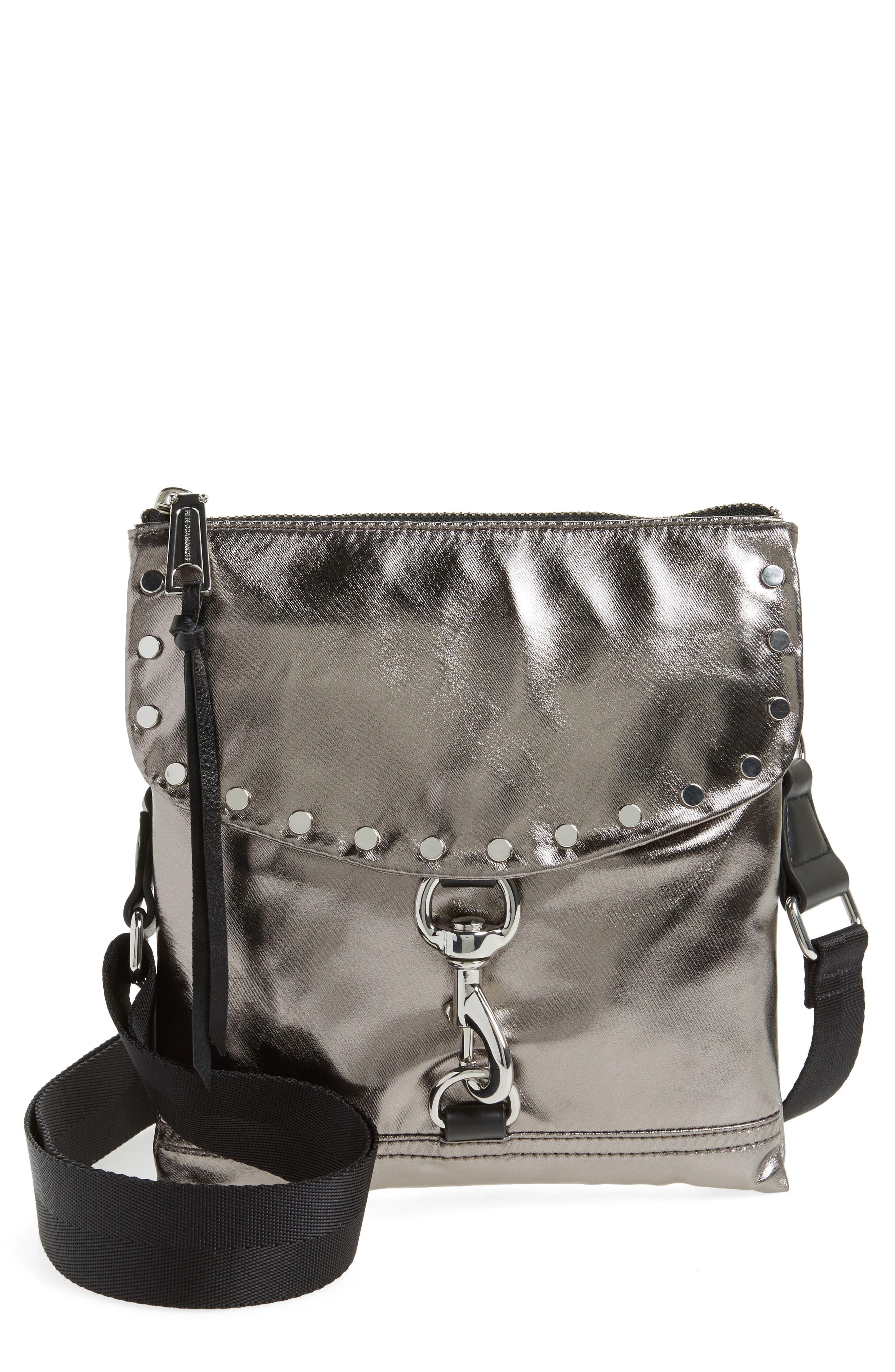 Nylon Flap Crossbody Bag,                             Main thumbnail 3, color,
