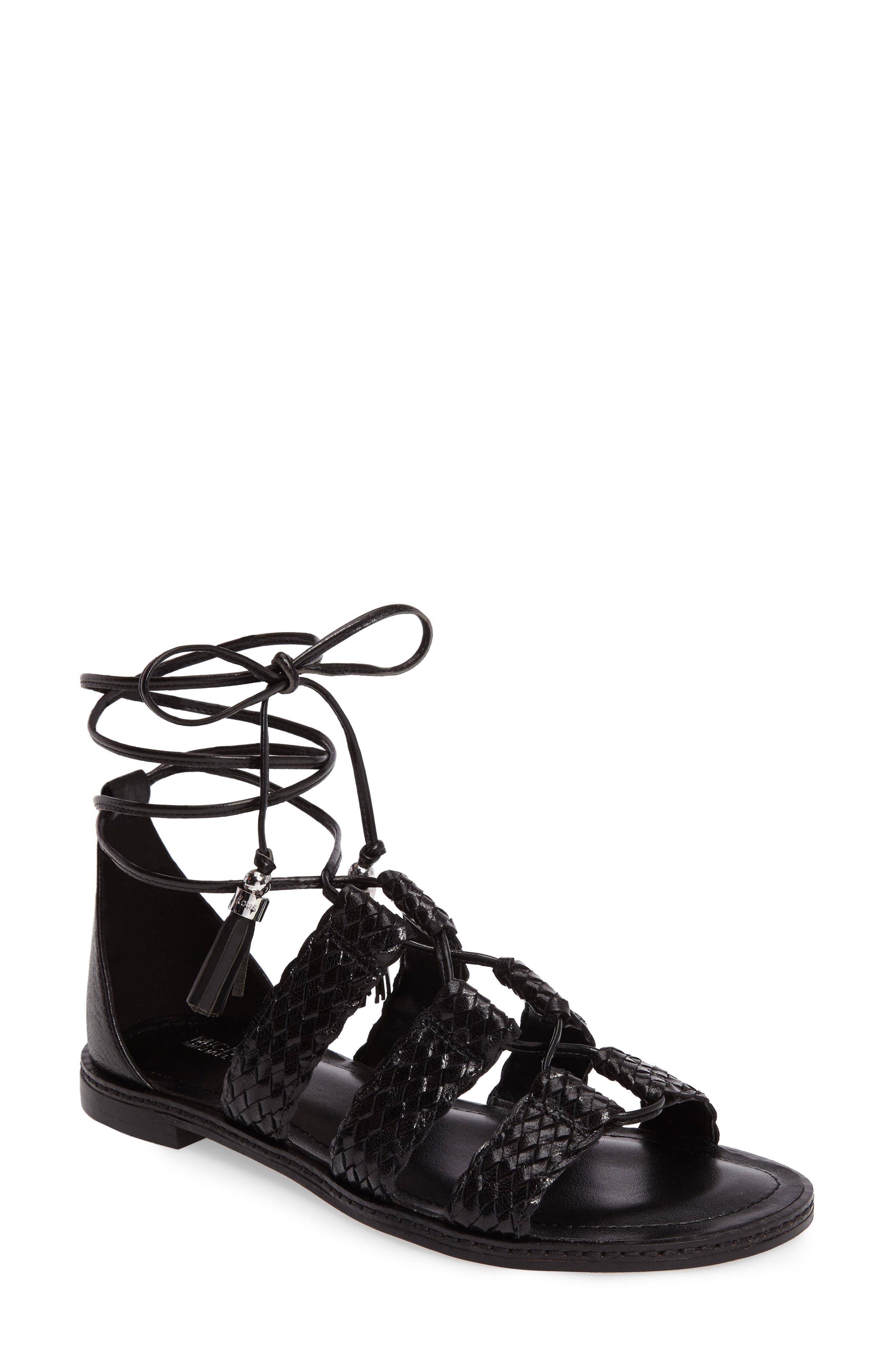 Monterey Lace-Up Gladiator Sandal,                         Main,                         color, 001