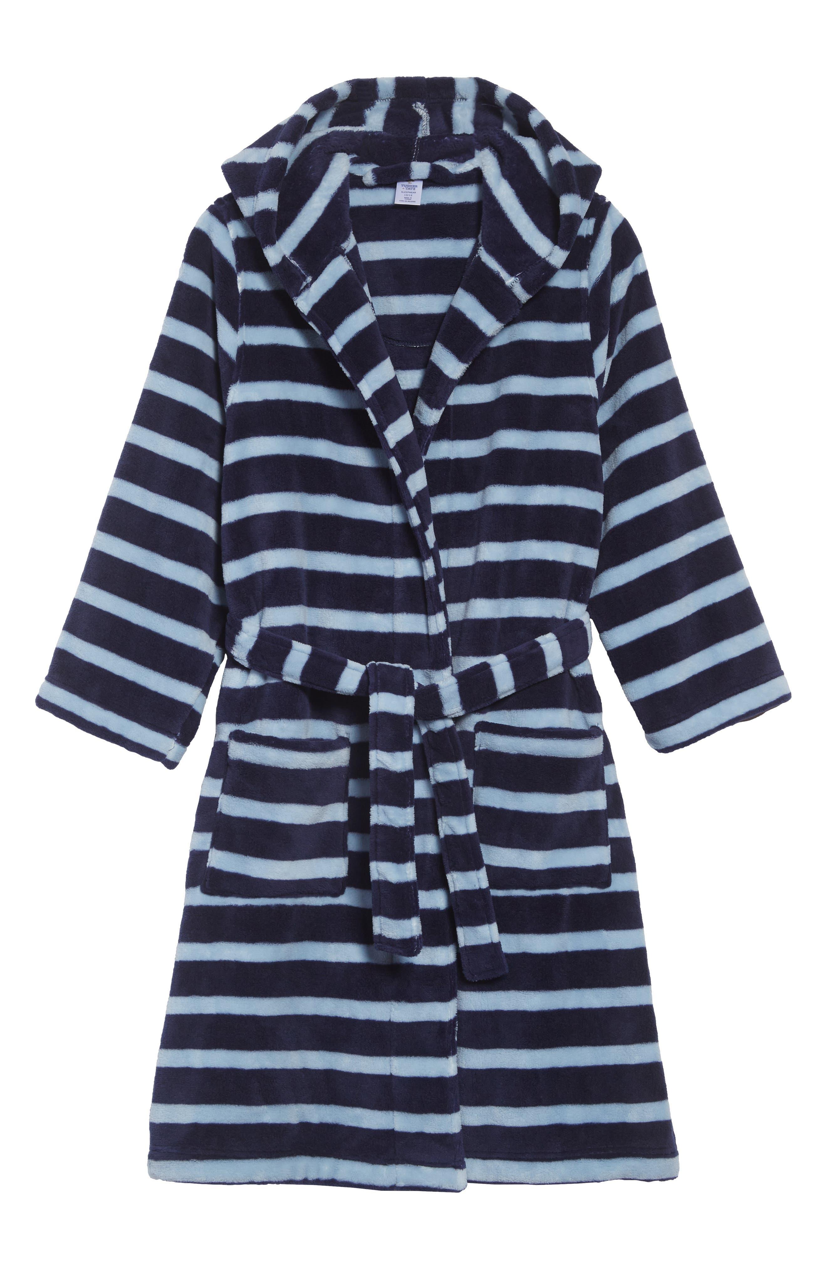 Boys Tucker  Tate Hooded Plush Robe Size 1820  Blue
