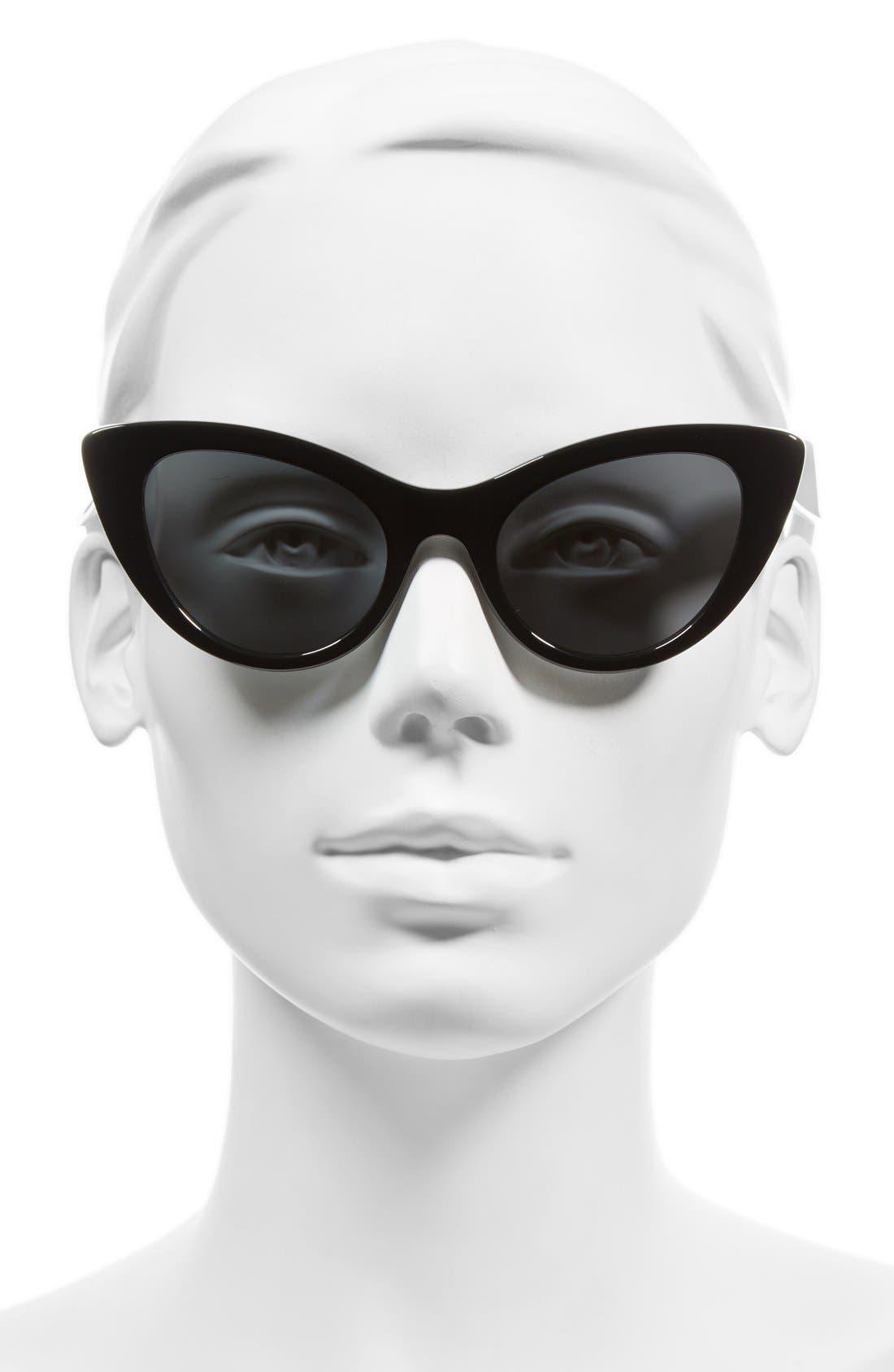 'deandra' 50mm cat eye sunglasses,                             Alternate thumbnail 2, color,                             001