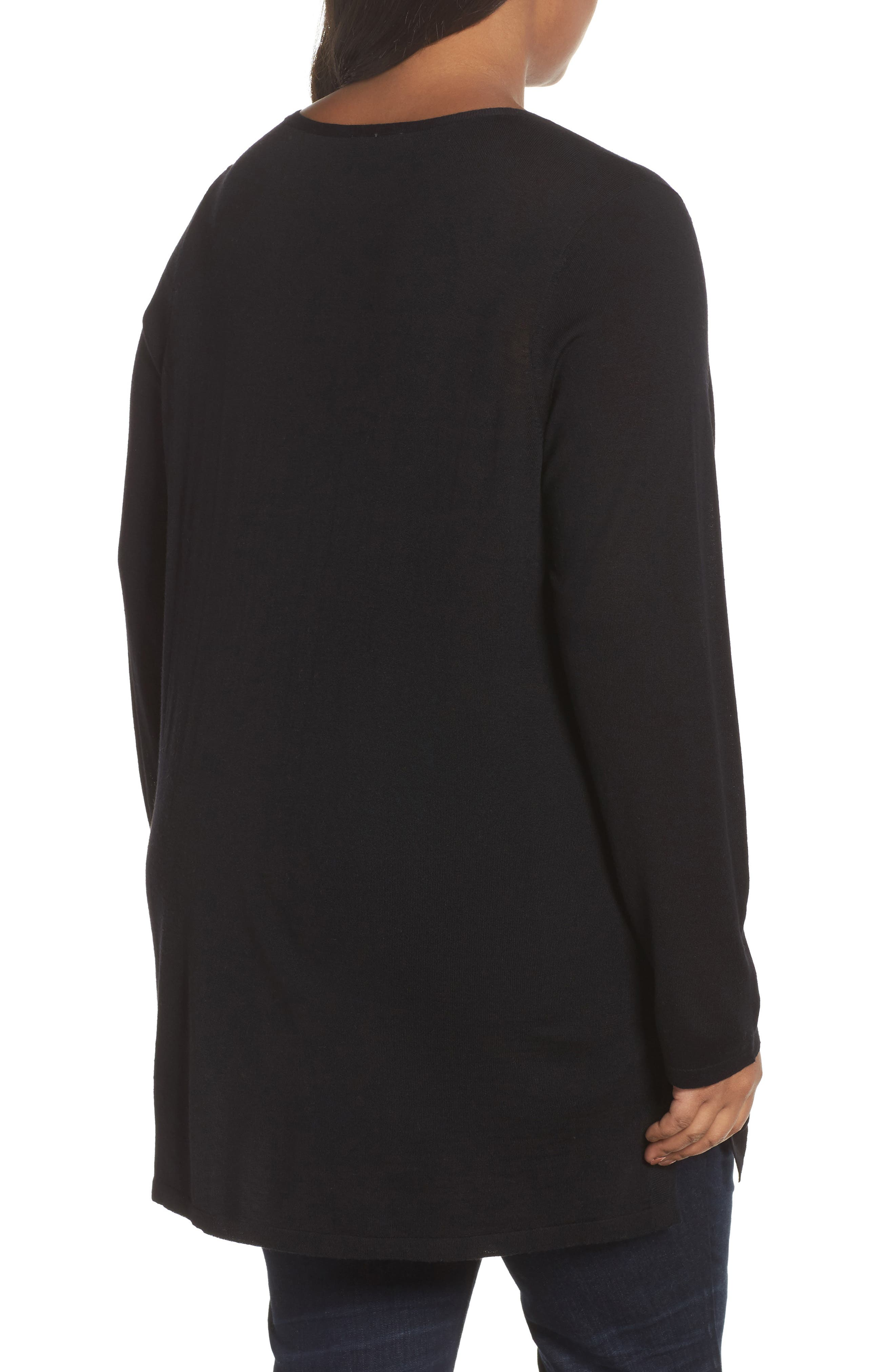 Merino Wool Tunic Sweater,                             Alternate thumbnail 6, color,