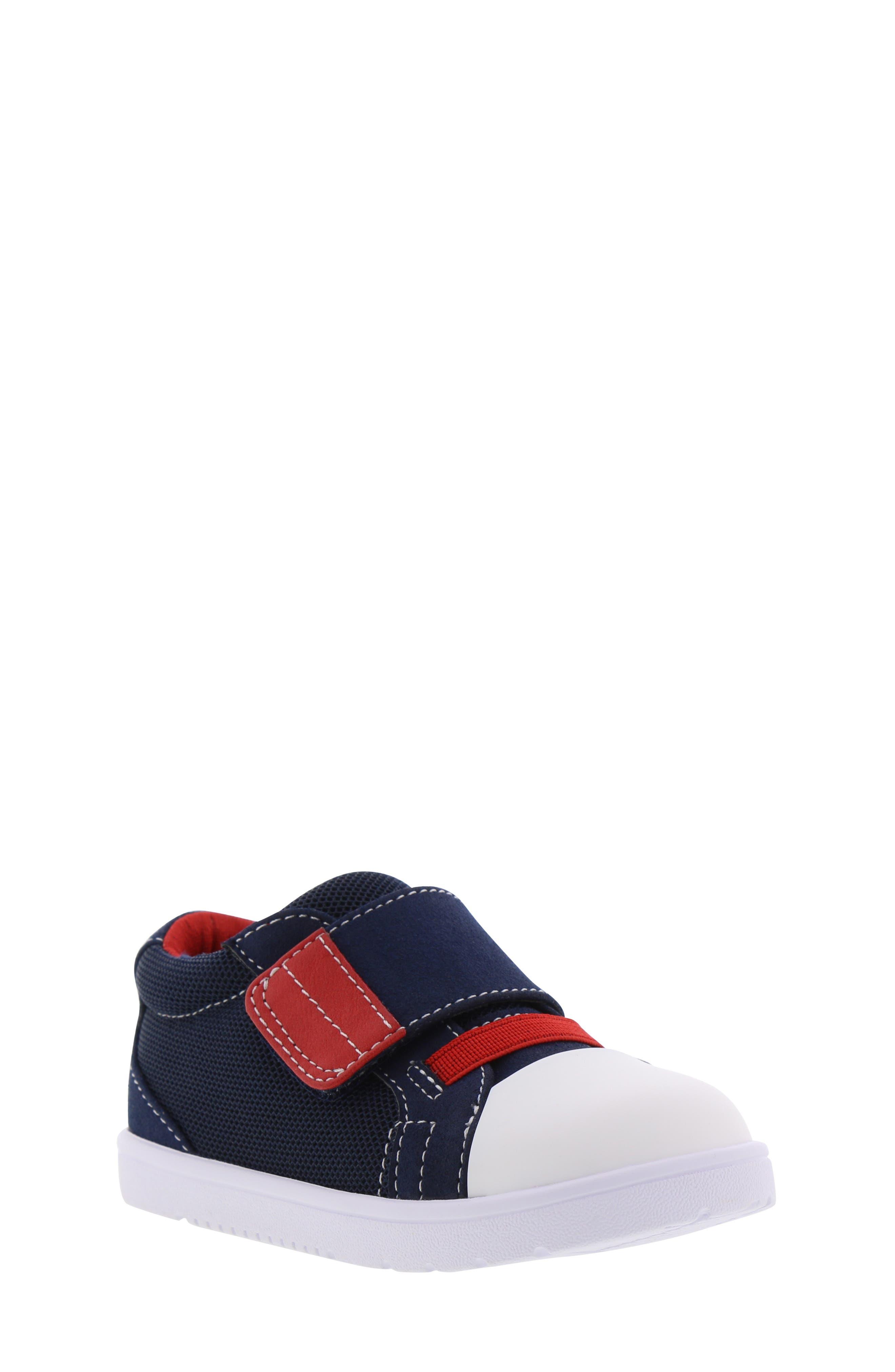 BØRN,                             Bailey Clark Sneaker,                             Main thumbnail 1, color,                             NAVY