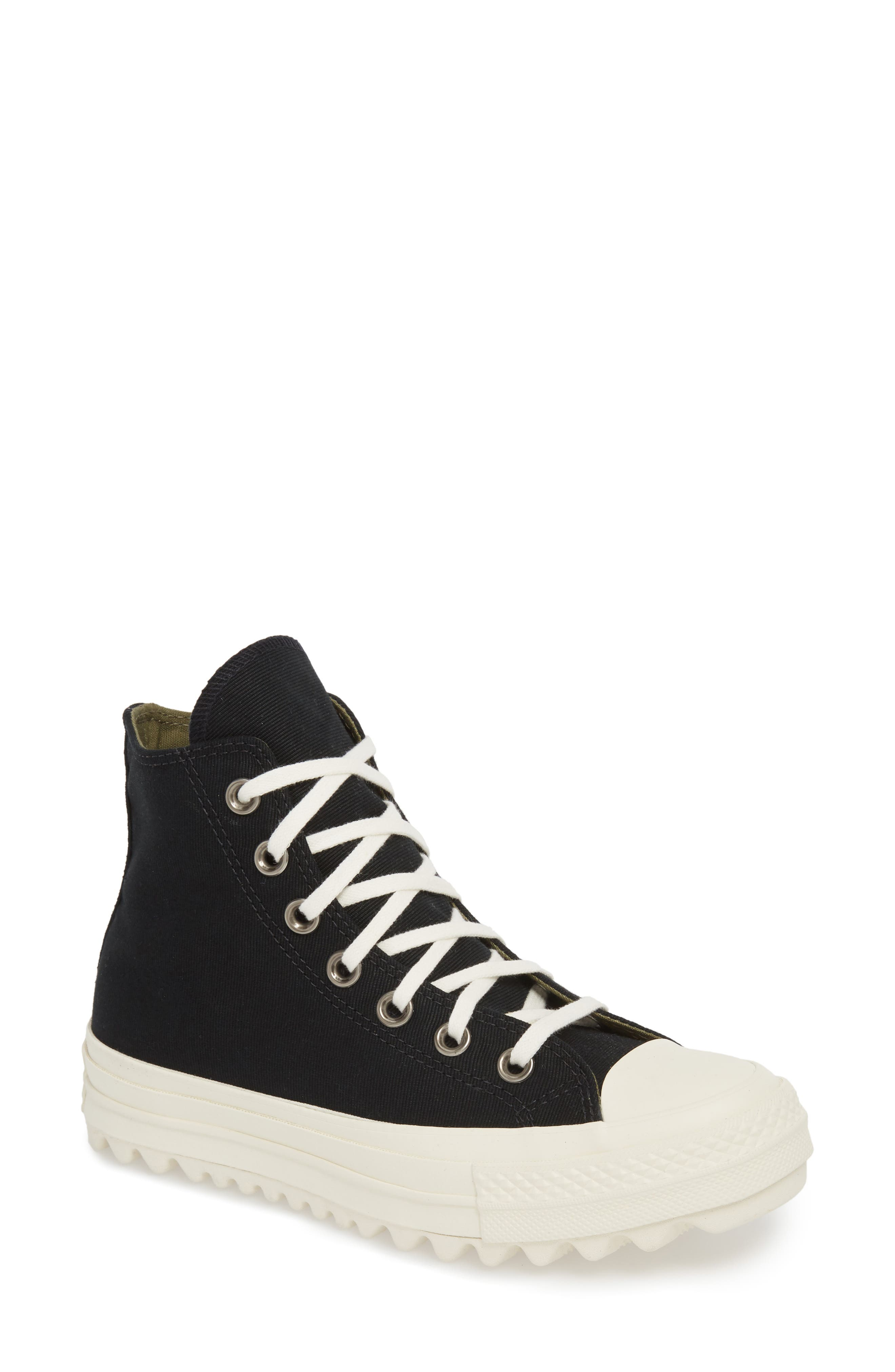 Chuck Taylor<sup>®</sup> All Star<sup>®</sup> Ripple High Top Sneaker,                             Main thumbnail 1, color,                             001