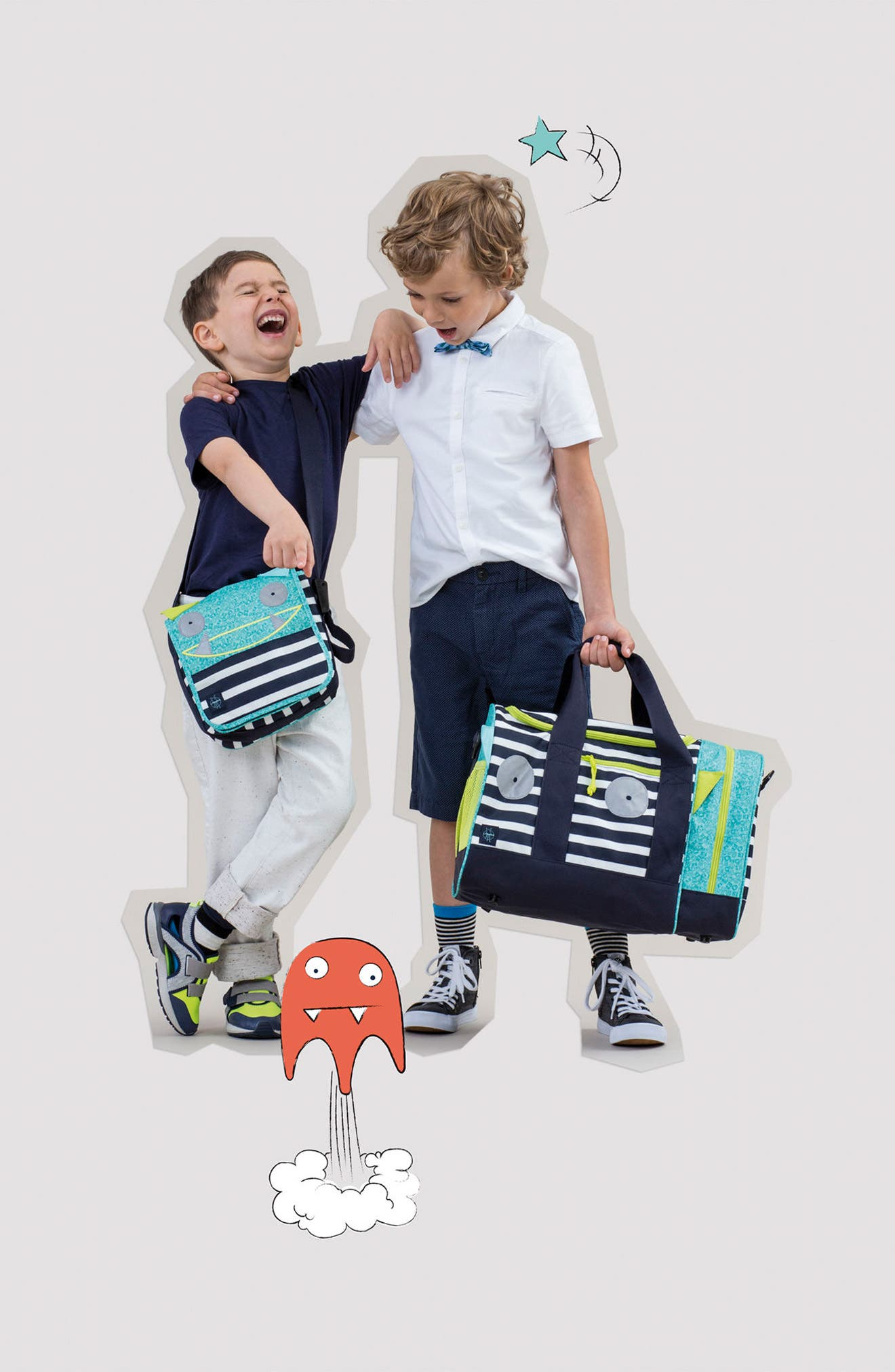 Mini Sports Bag with Glow-in-the-Dark Eyes,                             Alternate thumbnail 4, color,                             BOUNCING BOB
