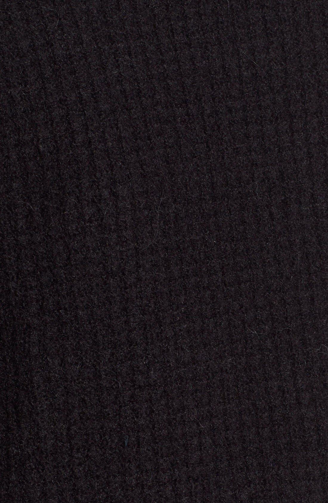 Wafflestitch Turtleneck Sweater,                             Alternate thumbnail 6, color,                             001
