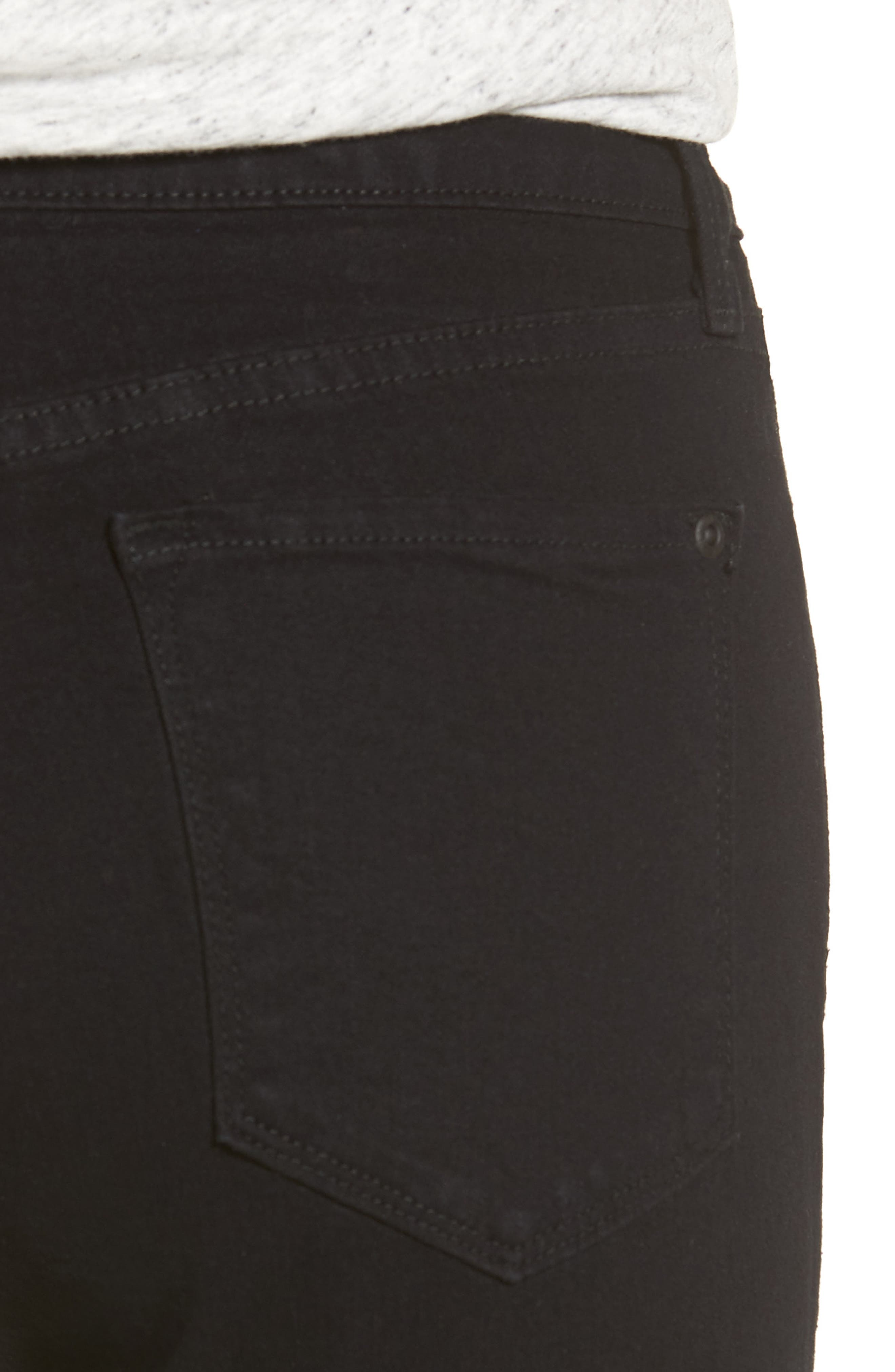 Sheri Stretch Skinny Jeans,                             Alternate thumbnail 4, color,                             001
