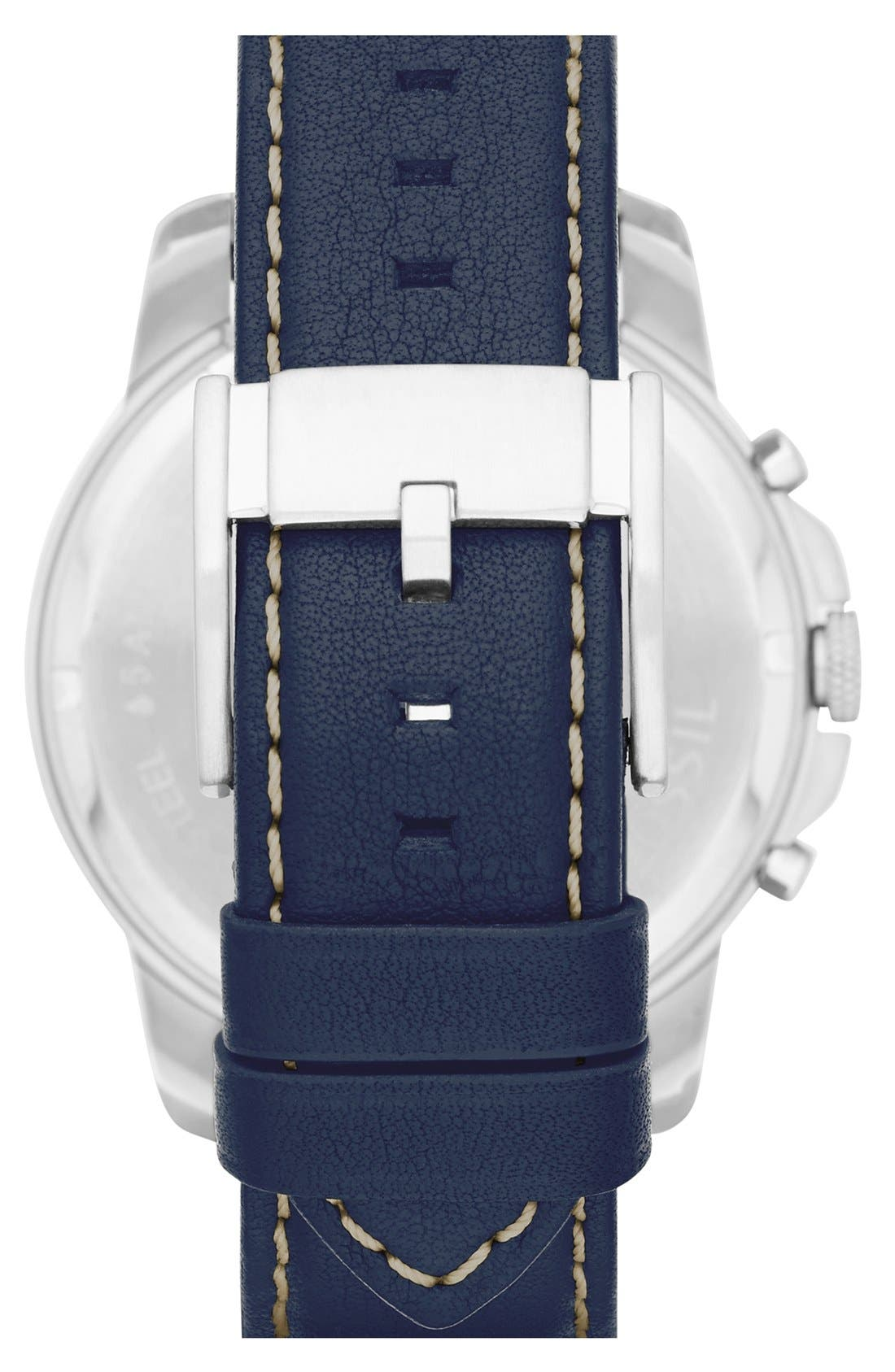 'Grant' Round Chronograph Leather Strap Watch, 44mm,                             Alternate thumbnail 87, color,