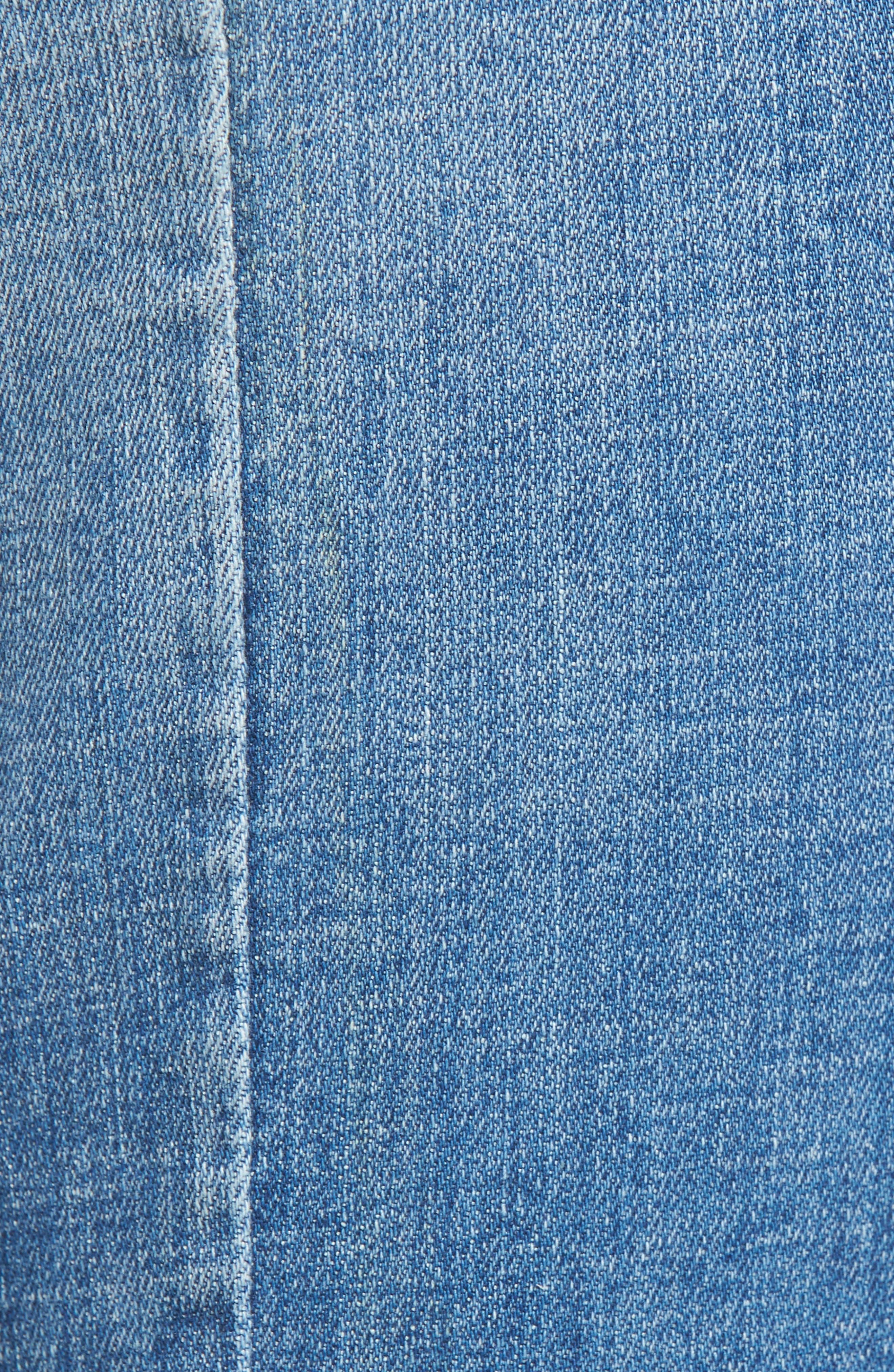 Happy Place Tie Hem Skinny Jeans,                             Alternate thumbnail 6, color,                             400