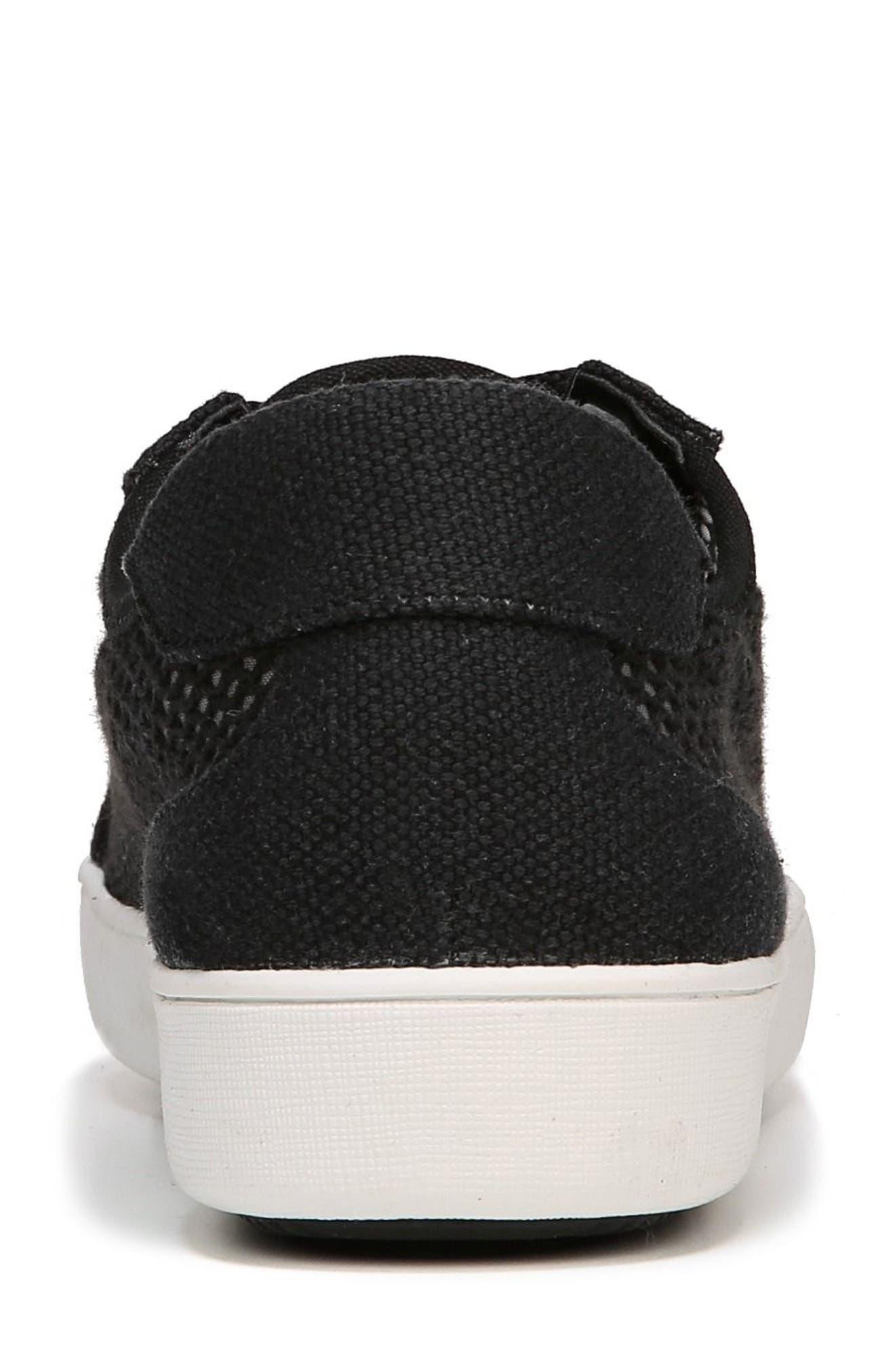 Morrison III Perforated Sneaker,                             Alternate thumbnail 7, color,                             BLACK FABRIC